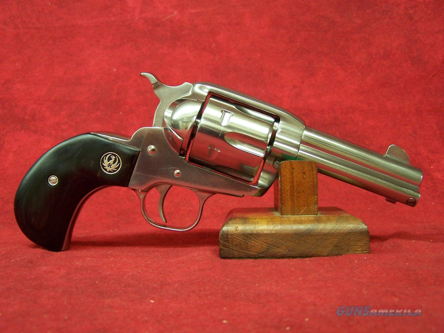 "RUGER VAQUERO 357 MAG 3.75"" STAINLESS BIRDSHEAD GRIP(05162)  Guns > Pistols > Ruger Single Action Revolvers > Cowboy Action"