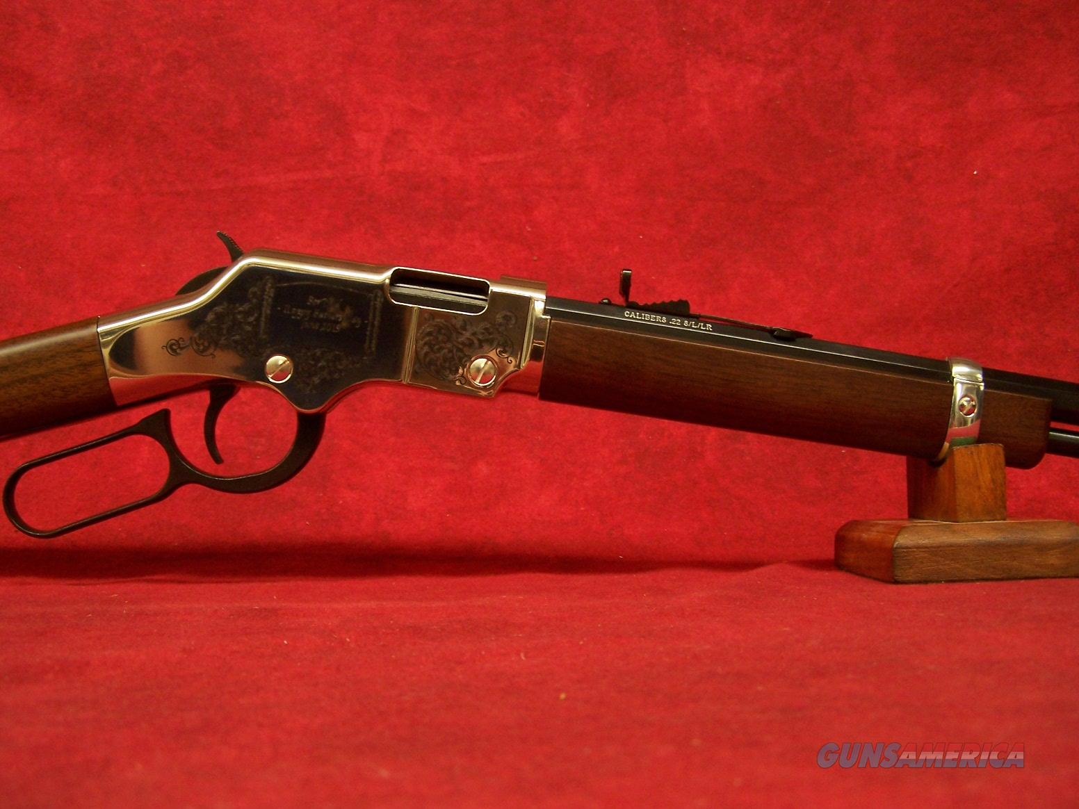 "Henry Golden Boy Silver Father's Day Tribute .22LR 20"" Barrel (H004SFD)  Guns > Rifles > Henry Rifle Company"