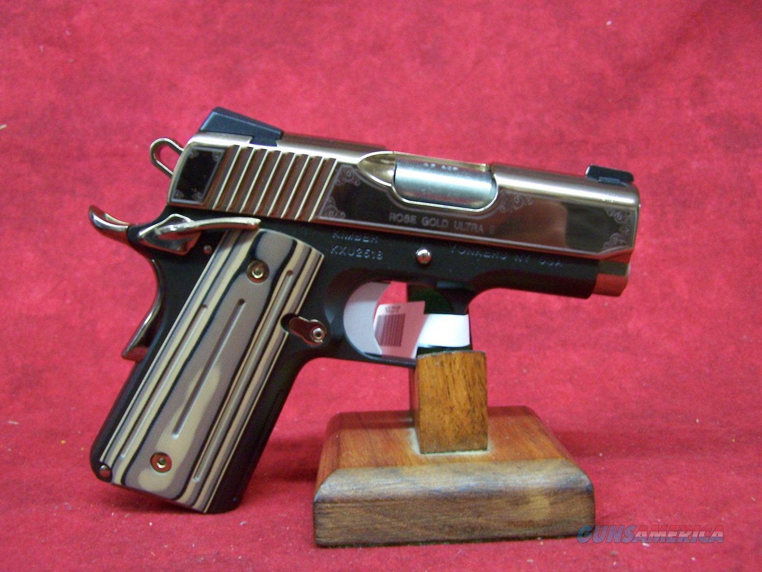 "Kimber Rose Gold Ultra II .45 ACP 3"" Barrel (32373)  Guns > Pistols > Kimber of America Pistols"
