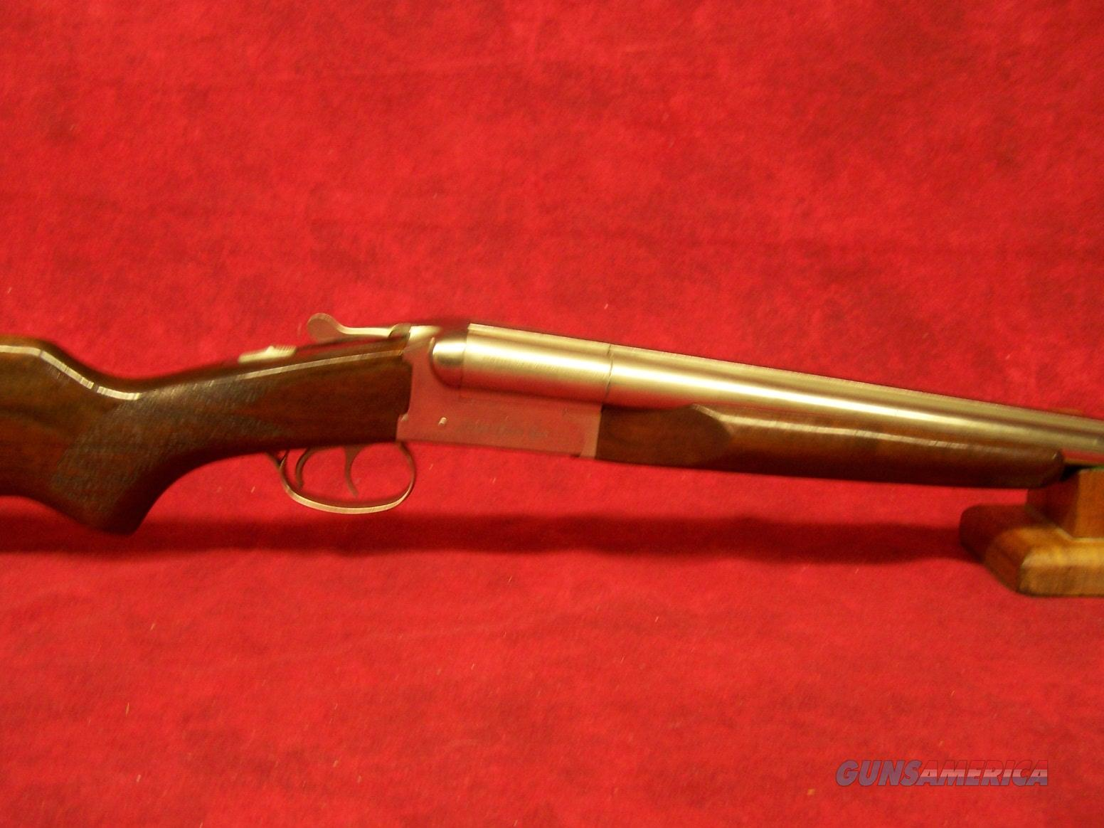 "Stoeger Coach Gun Supreme 20Ga 3"" SxS AA-Grade Gloss Walnut Polished Nickel 20"" Barrel (31489)  Guns > Shotguns > Stoeger Shotguns"