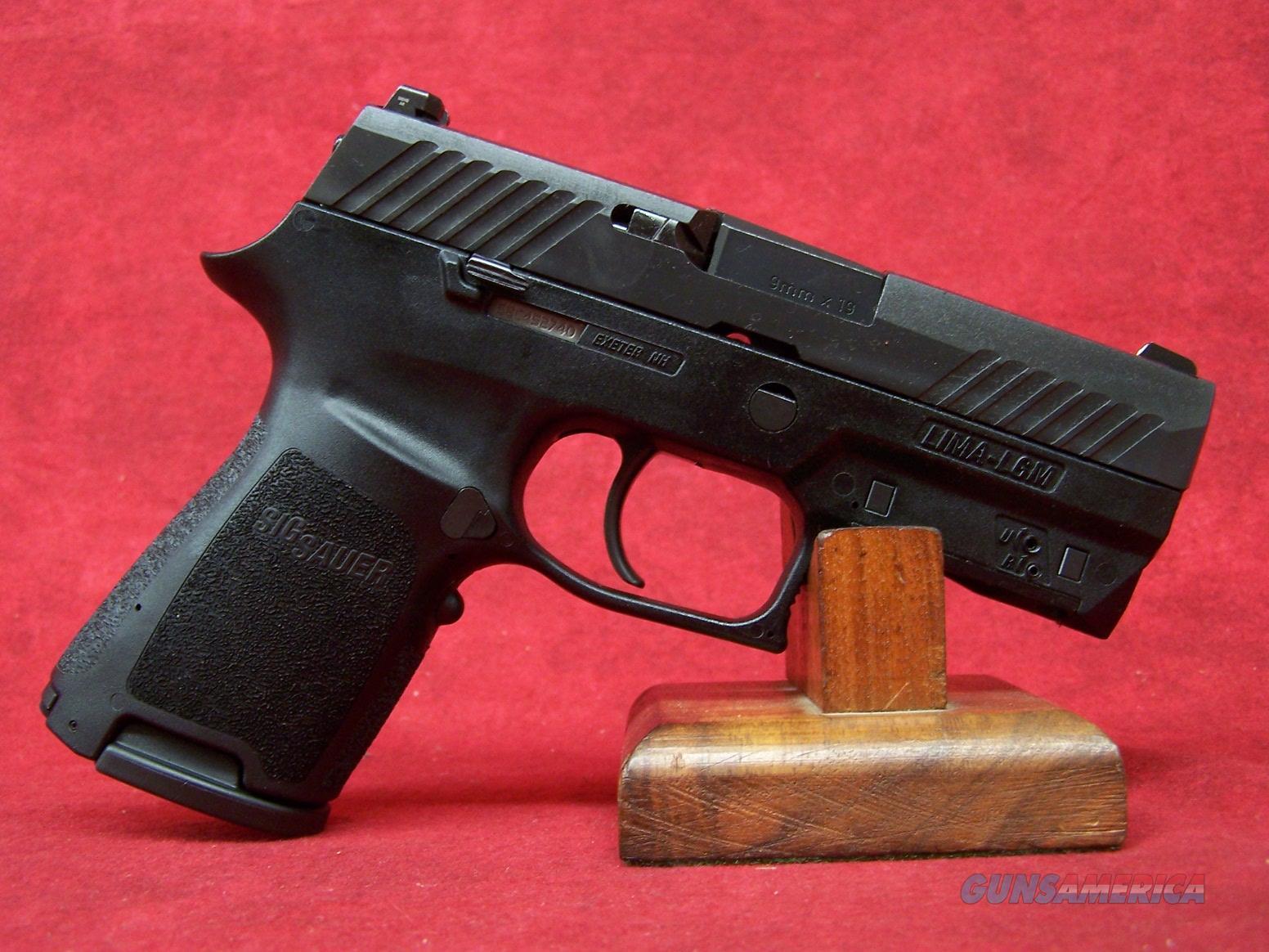 "Sig Sauer P320 LIMA 9mm w/Built in Green Laser & Night Sights 3.9"" Barrel (320C-9-BSS-LIMA-G)  Guns > Pistols > Sig - Sauer/Sigarms Pistols > P320"