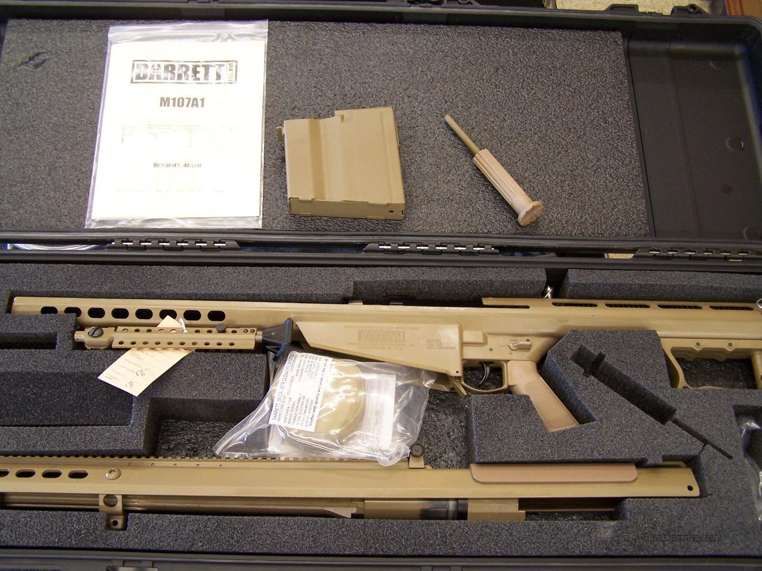 "Barrett M107A1 .50 BMG 29"" barrel with Pelican Case(13313)  Guns > Rifles > Barrett Rifles"