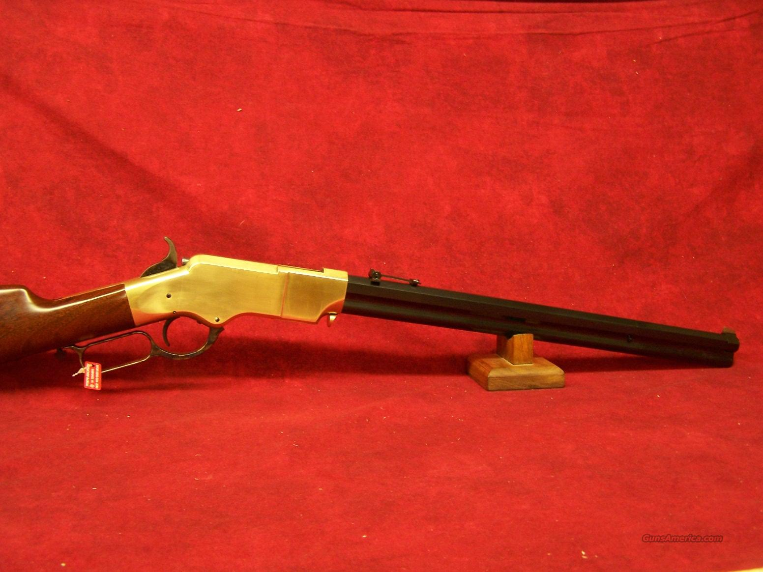 "Uberti 1860 Henry Trapper Brass .45LC 18 1/2"" (342910)  Guns > Rifles > Uberti Rifles > Lever Action"