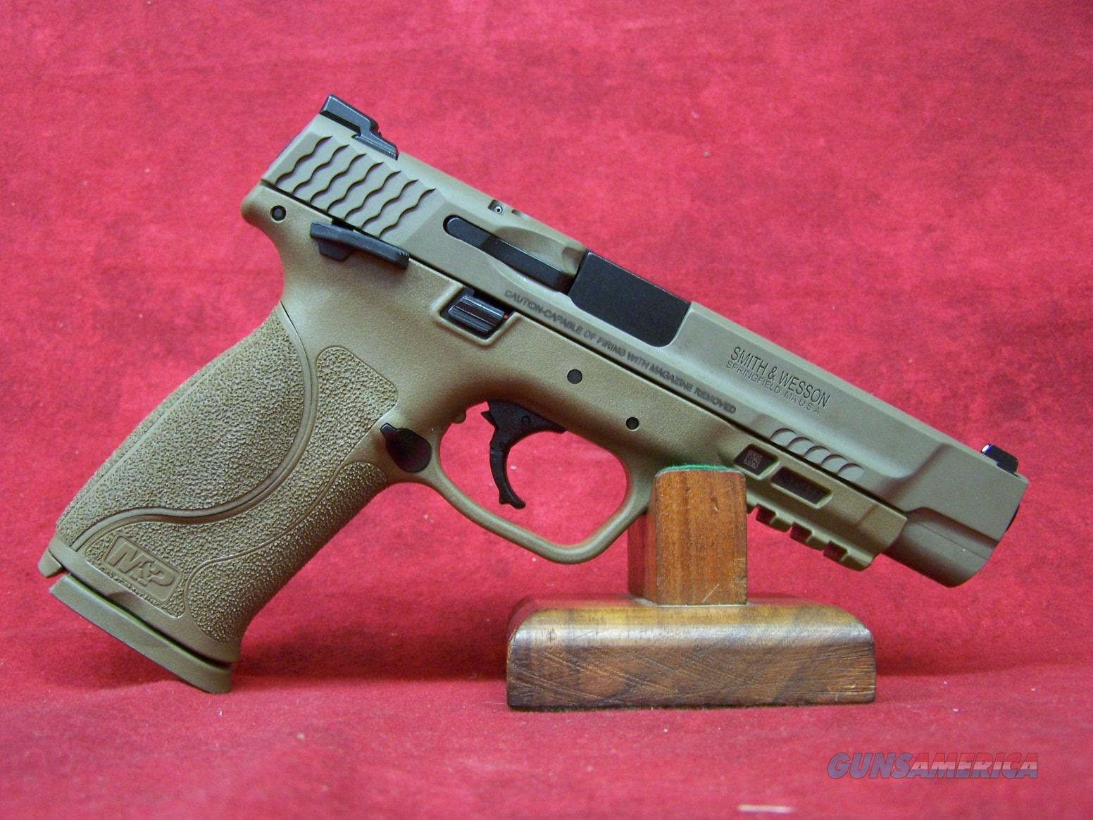 "Smith and Wesson M&P 9 M2.0 9MM 5"" Barrel FDE Thumb Safety(11537)  Guns > Pistols > Smith & Wesson Pistols - Autos > Polymer Frame"