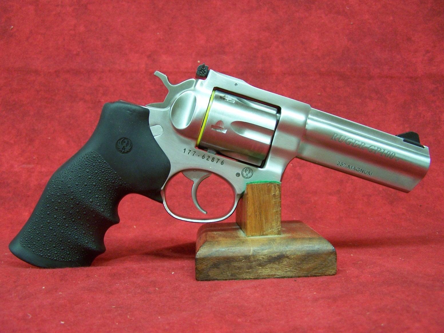 "Ruger GP100 .357 Magnum 4.2""  Barrel Satin Stainless Adj Sights 6 Round (01705)  Guns > Pistols > Ruger Double Action Revolver > GP100"