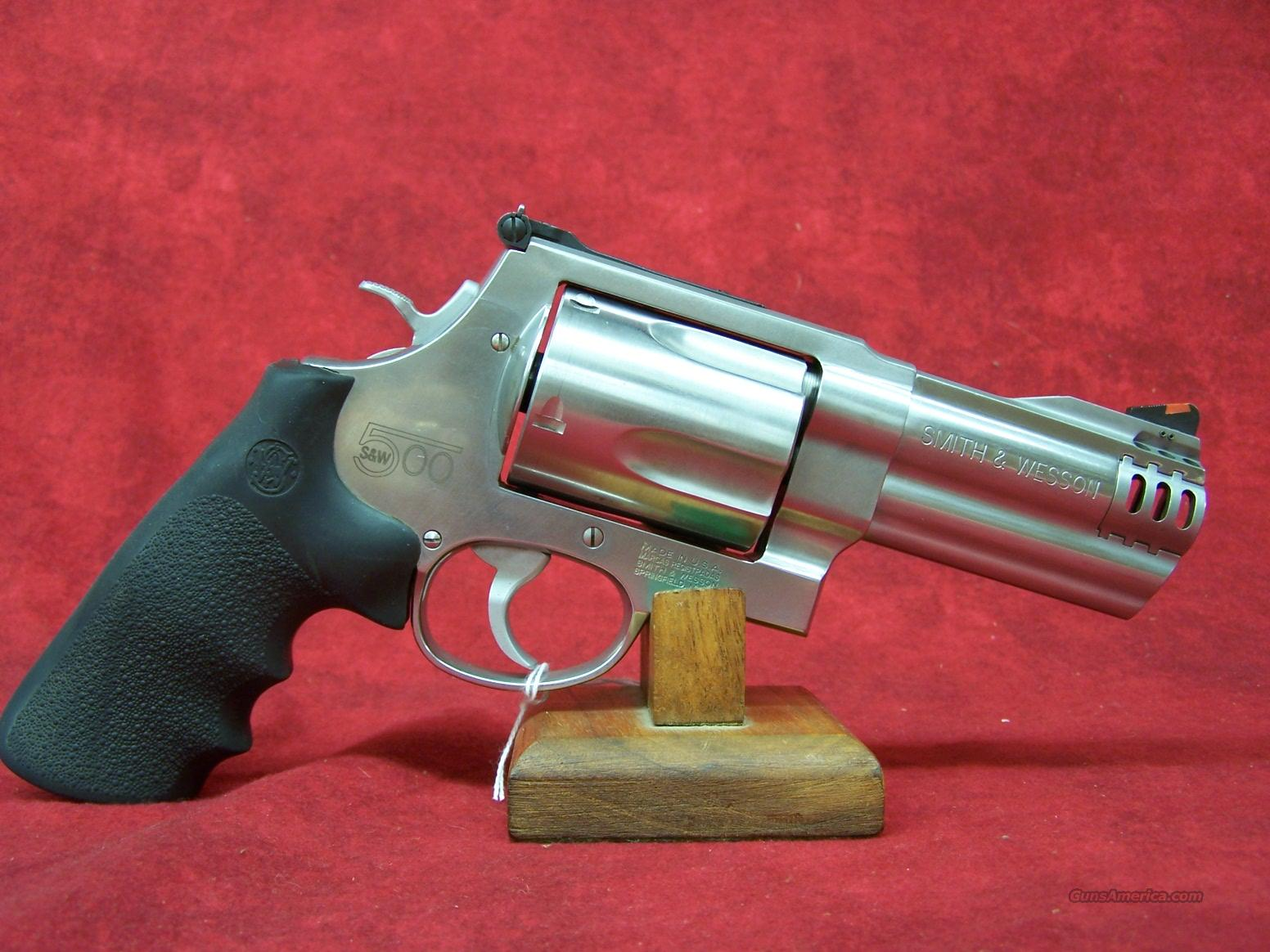 "Smith & Wesson 500 4"" S/S .500 S&W(163504)  Guns > Pistols > Smith & Wesson Revolvers > Full Frame Revolver"
