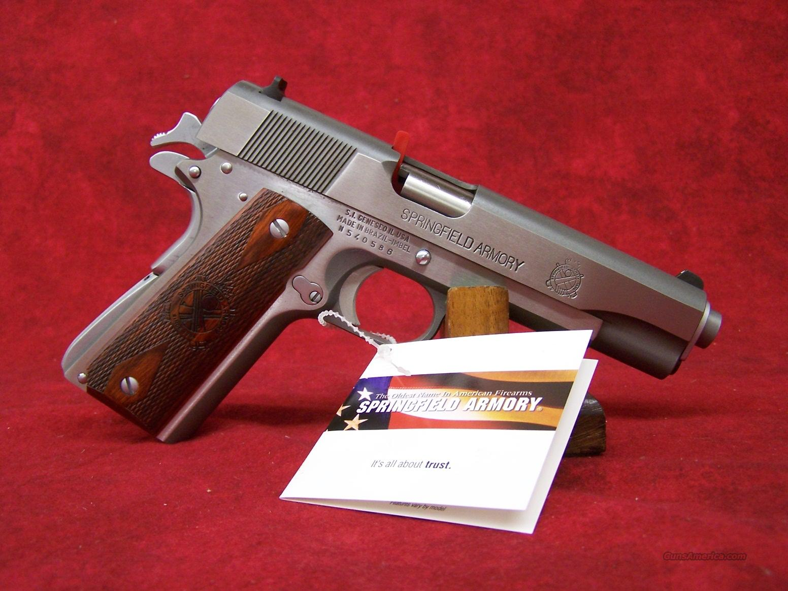 Springfield Armory 1911 Mil-Spec Full Size SS .45ACP(PB9151LP)  Guns > Pistols > Springfield Armory Pistols > 1911 Type