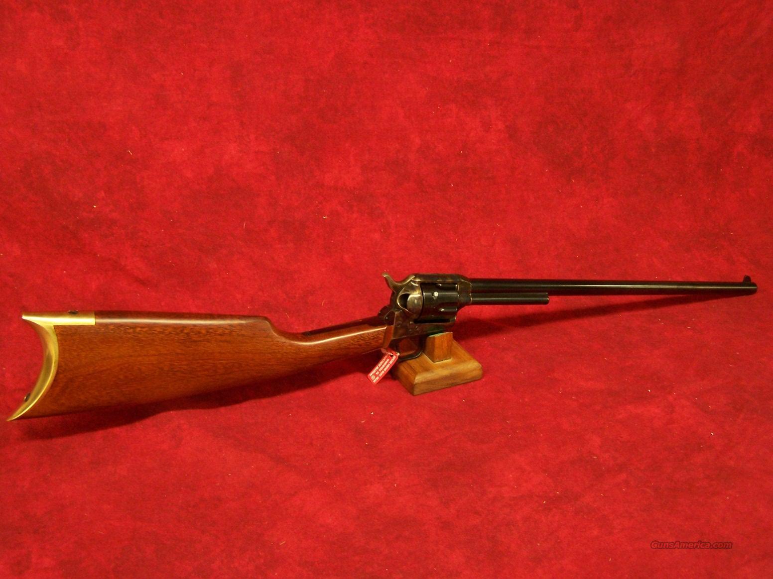 "Uberti 1873 Cattleman NM Revolver Carbine 18"" .45 LC (344191)  Guns > Rifles > Uberti Rifles > Revolving"