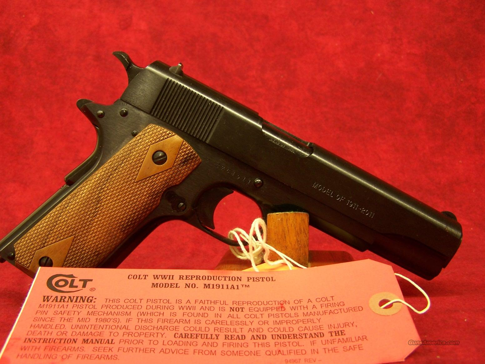 Colt Government 100 Year Anniversary Tier III .45ACP(01911ANVIII)  Guns > Pistols > Colt Automatic Pistols (1911 & Var)