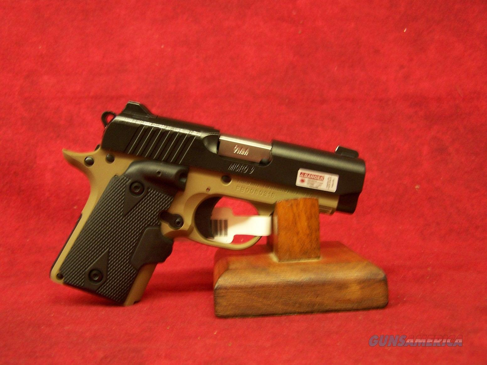 "Kimber Micro 9 Desert Night 9MM 3.15"" Barrel (33175)  Guns > Pistols > Kimber of America Pistols > Micro 9"