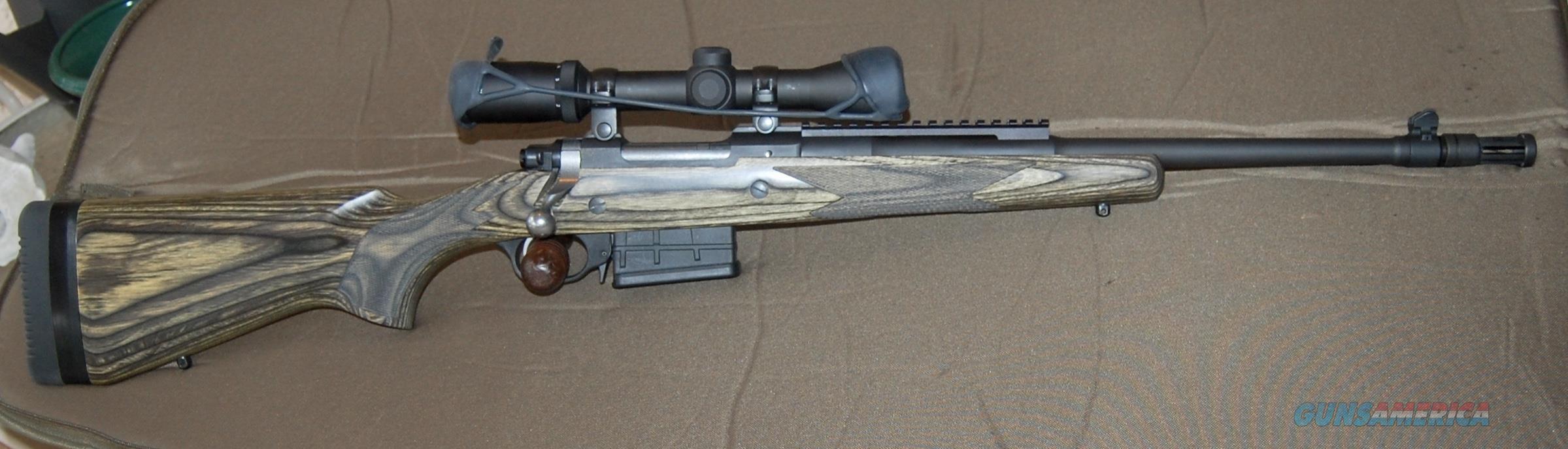 RGER GUNSITE SCOUT RIFLE 308 W/BURRIS 2X7 POWER SCOPE  Guns > Rifles > Ruger Rifles > Gunsite