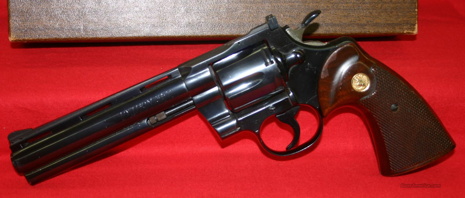 "Colt Python 6"" Blue in Box  Guns > Pistols > Colt Double Action Revolvers- Modern"