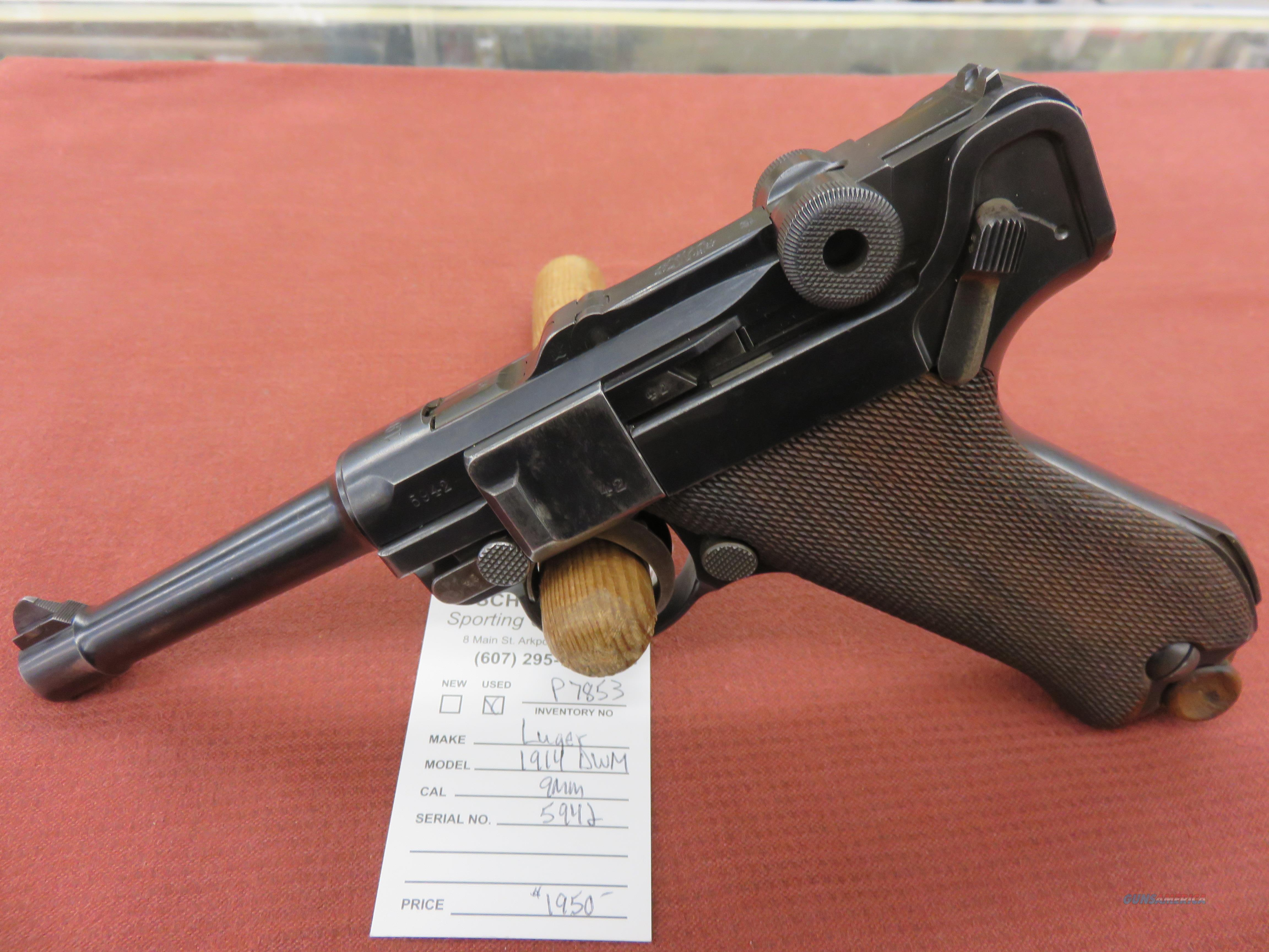 Luger 1914 DWM  Guns > Pistols > Luger Pistols