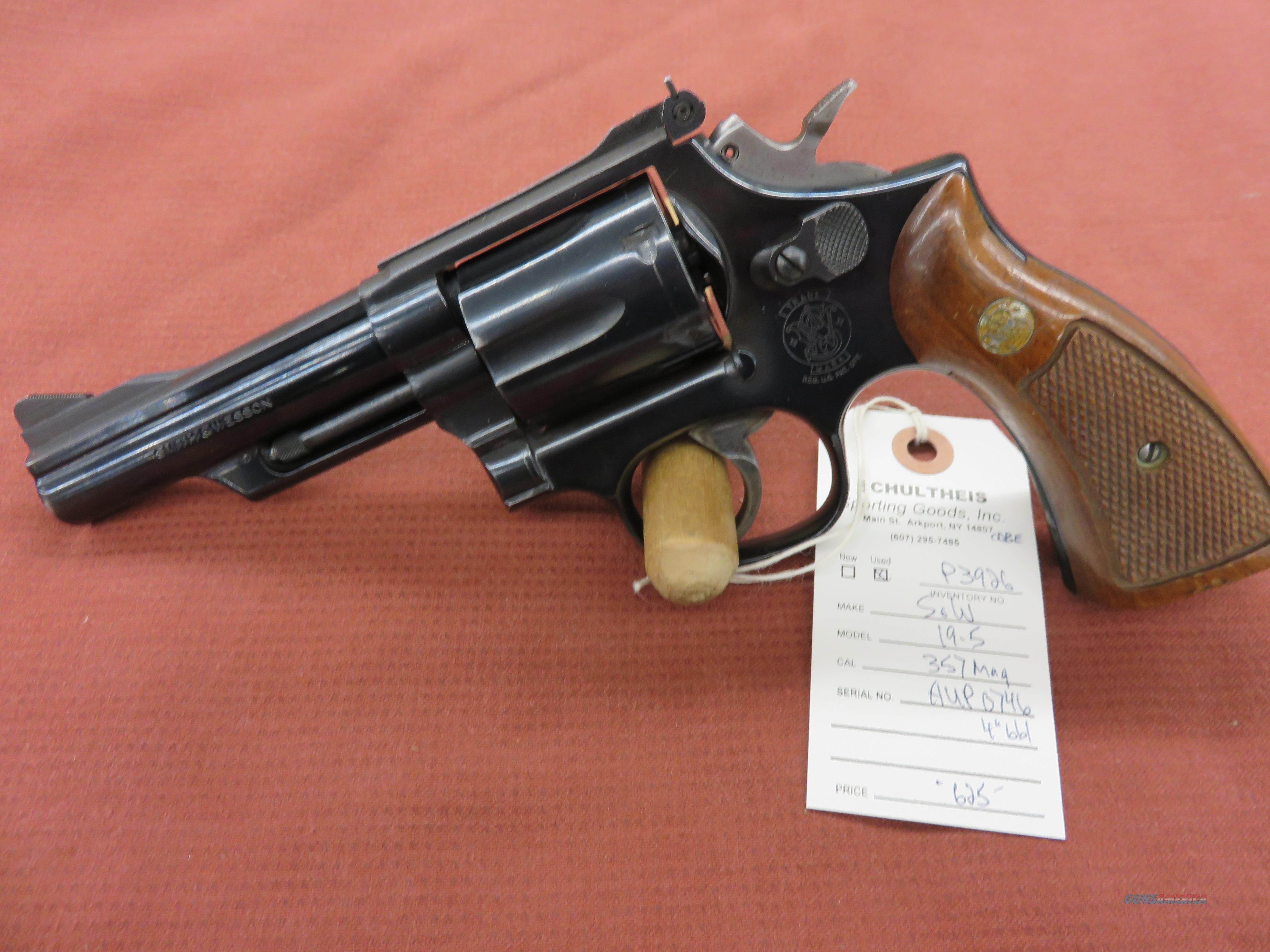 Smith & Wesson 19-5 .357 magnum.  Guns > Pistols > Smith & Wesson Revolvers > Med. Frame ( K/L )