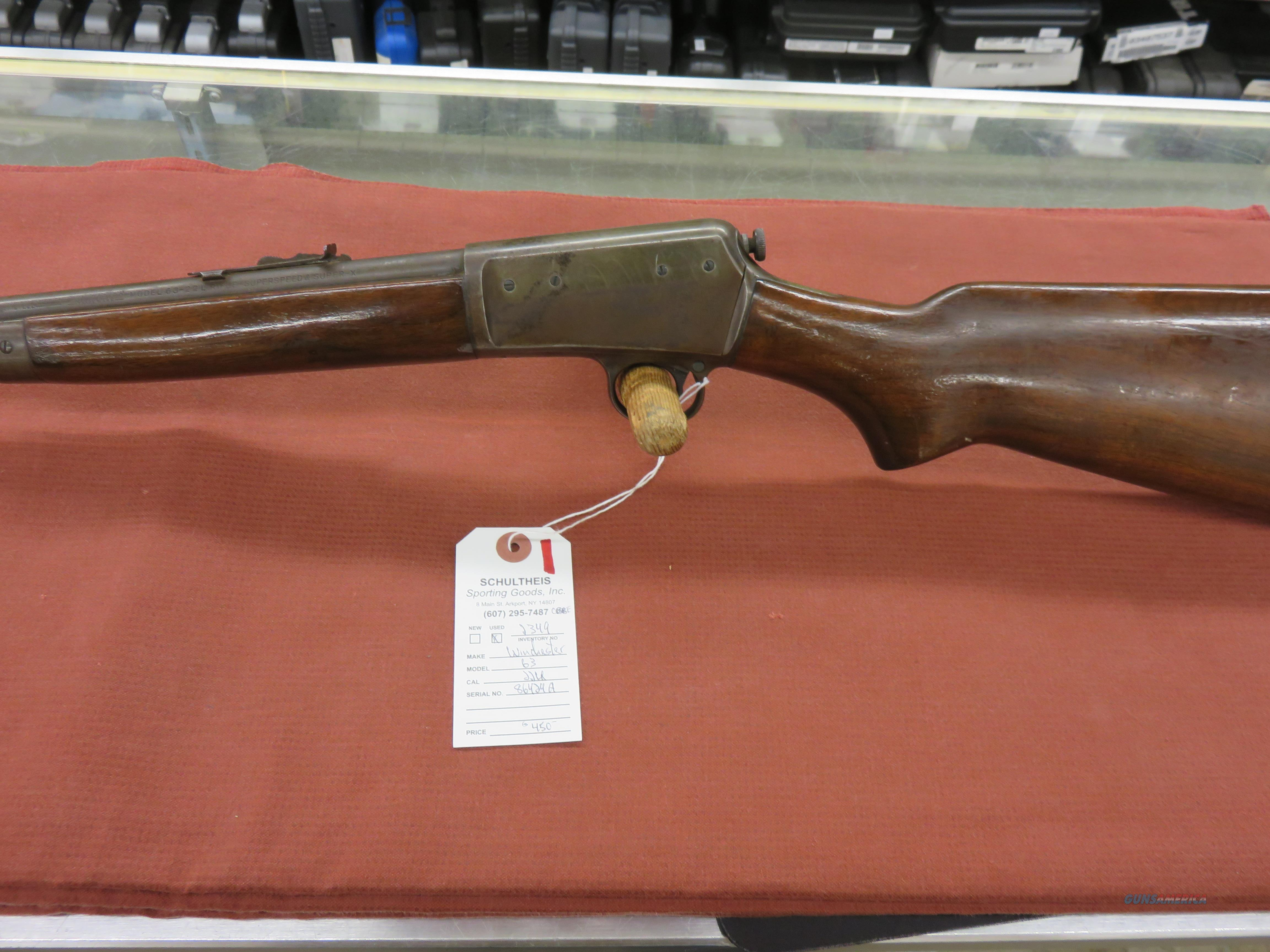 Winchester Model 63 .22 LR  Guns > Rifles > Winchester Rifles - Modern Bolt/Auto/Single > Autoloaders