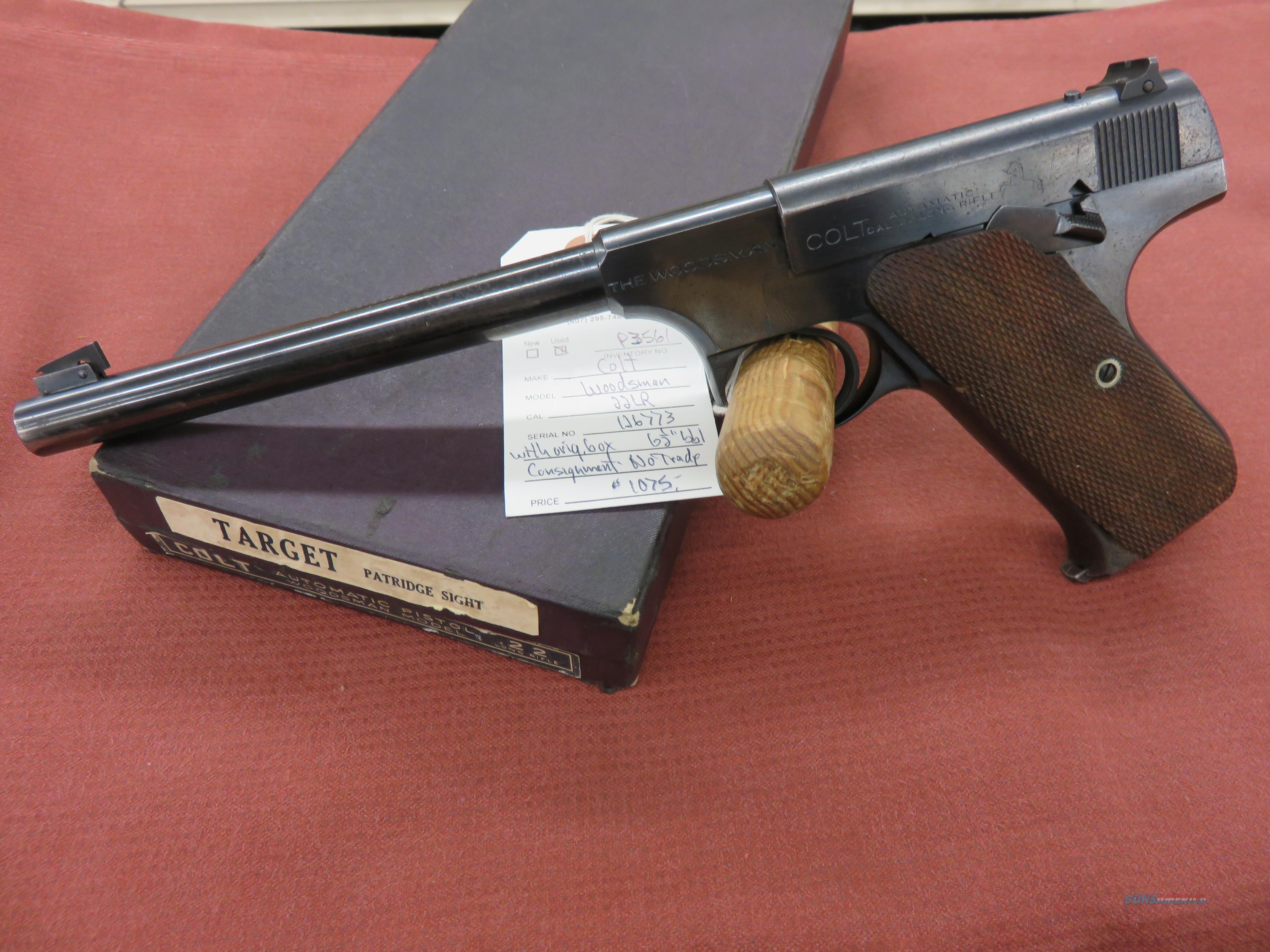 Colt Woodsman 1st Issue  Guns > Pistols > Colt Automatic Pistols (22 Cal.)