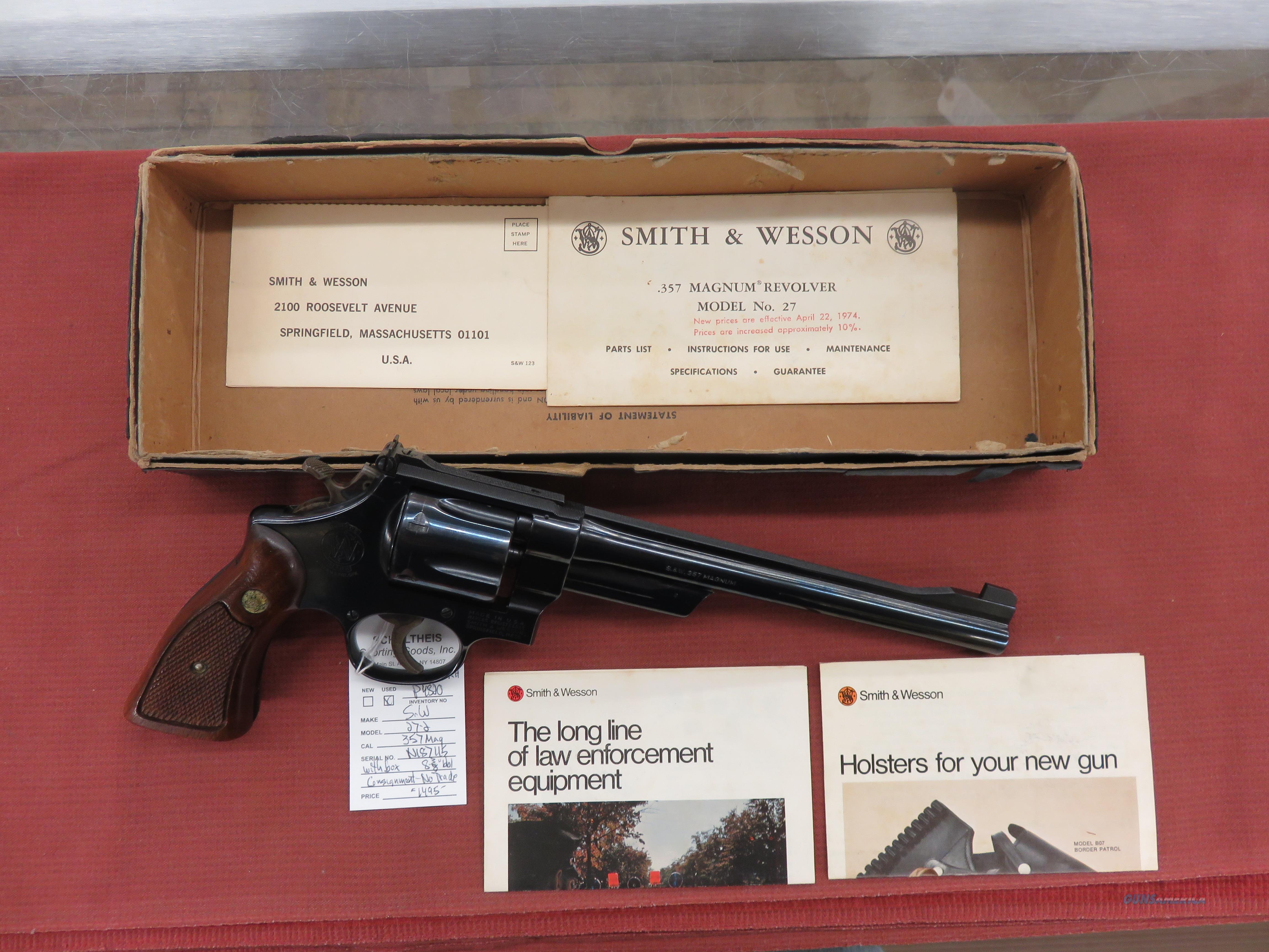 Smith & Wesson 27-2  Guns > Pistols > Smith & Wesson Revolvers > Med. Frame ( K/L )