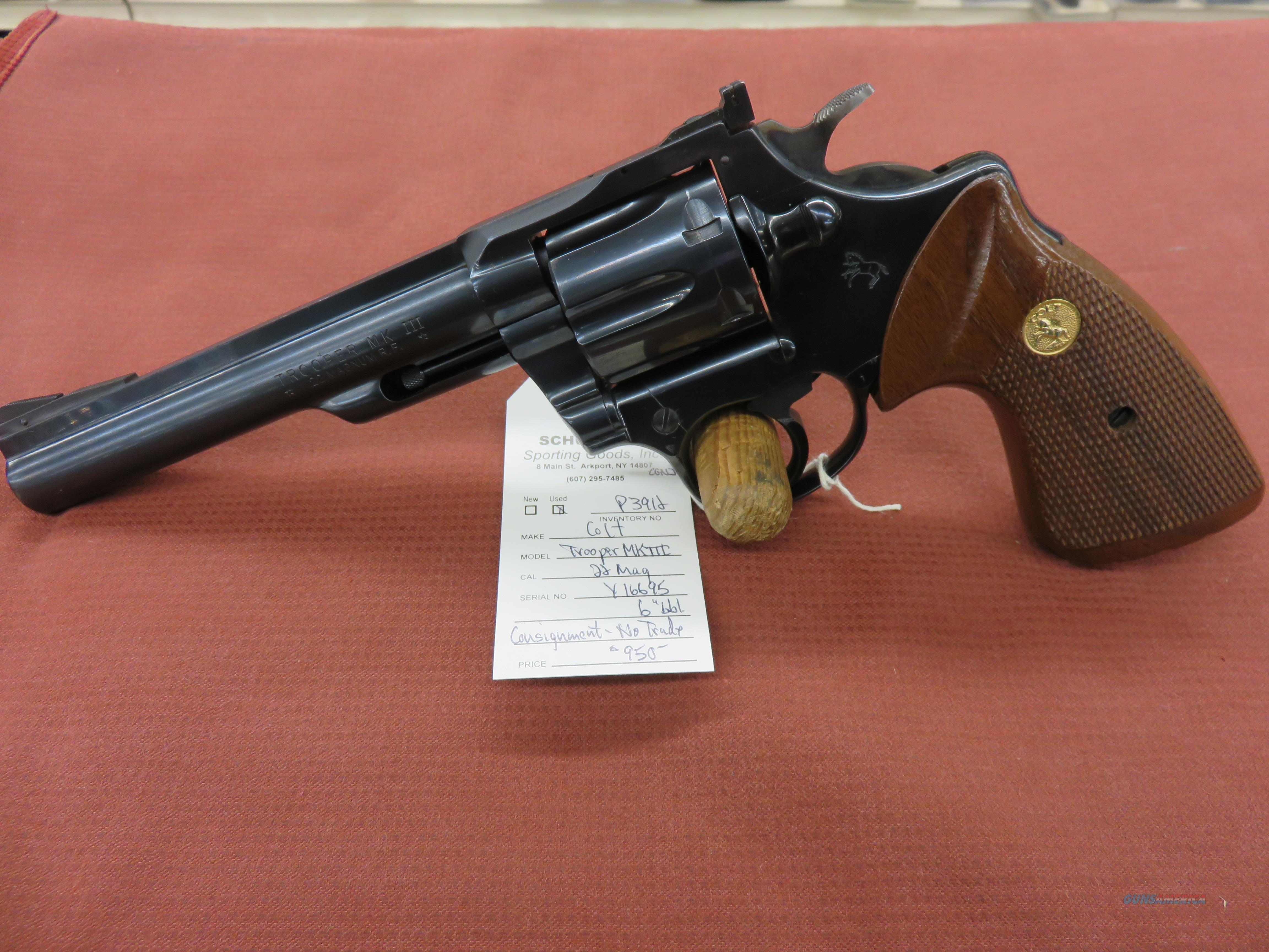 Colt Trooper MKIII  Guns > Pistols > Colt Double Action Revolvers- Modern