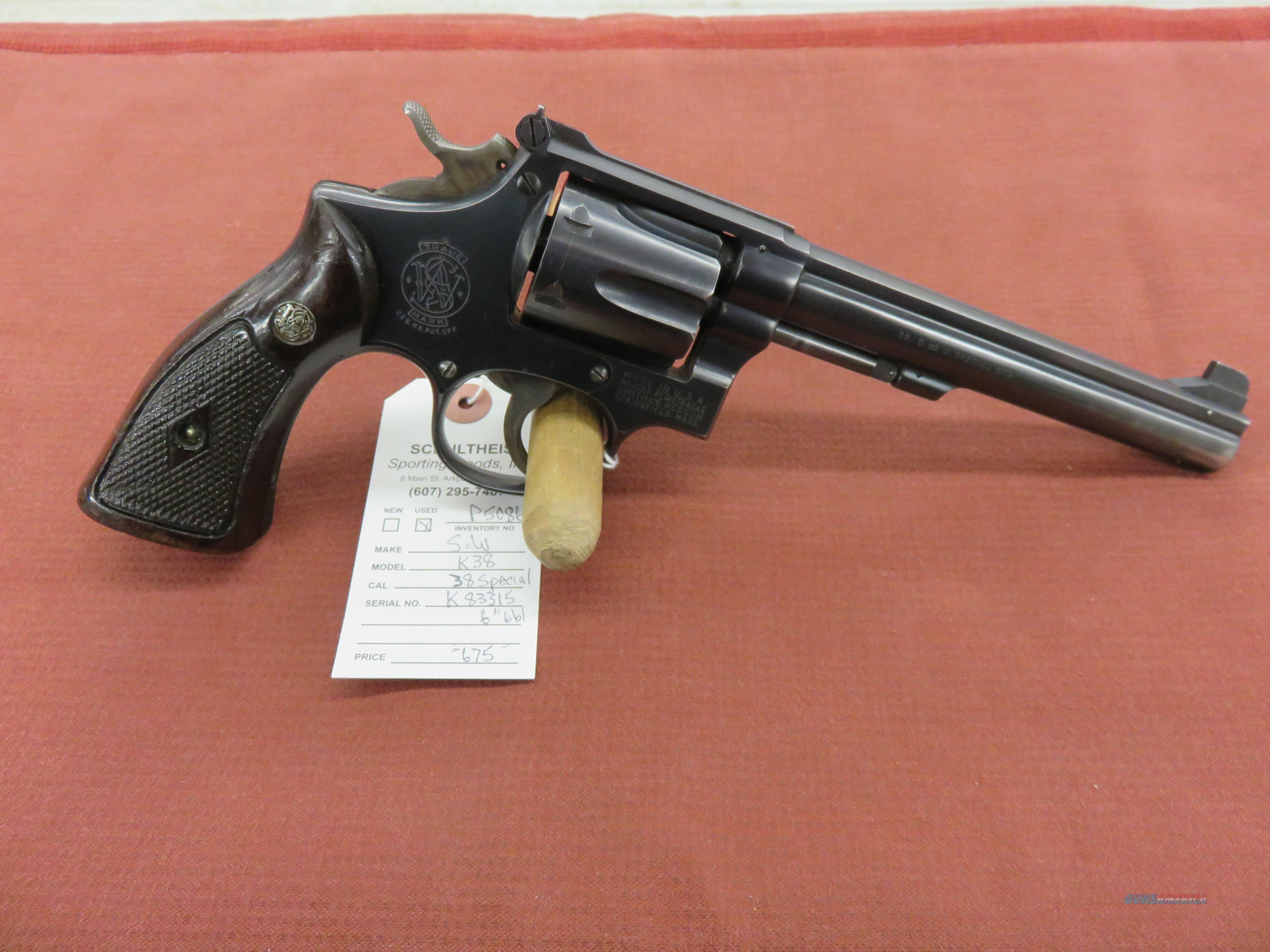 Smith & Wesson K-38  Guns > Pistols > Smith & Wesson Revolvers > Med. Frame ( K/L )
