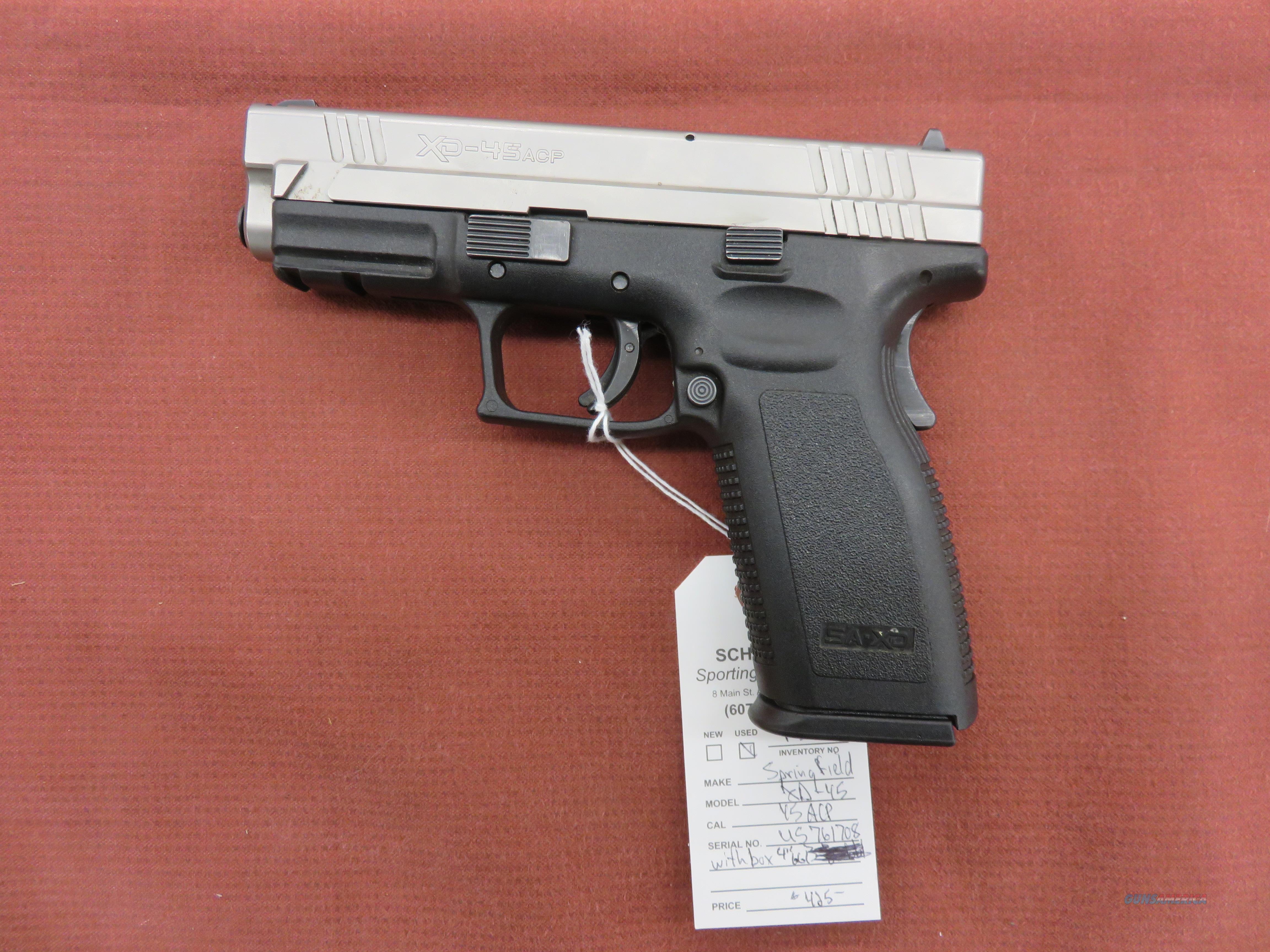 Springfield Armory XD-45  Guns > Pistols > Springfield Armory Pistols > XD (eXtreme Duty)