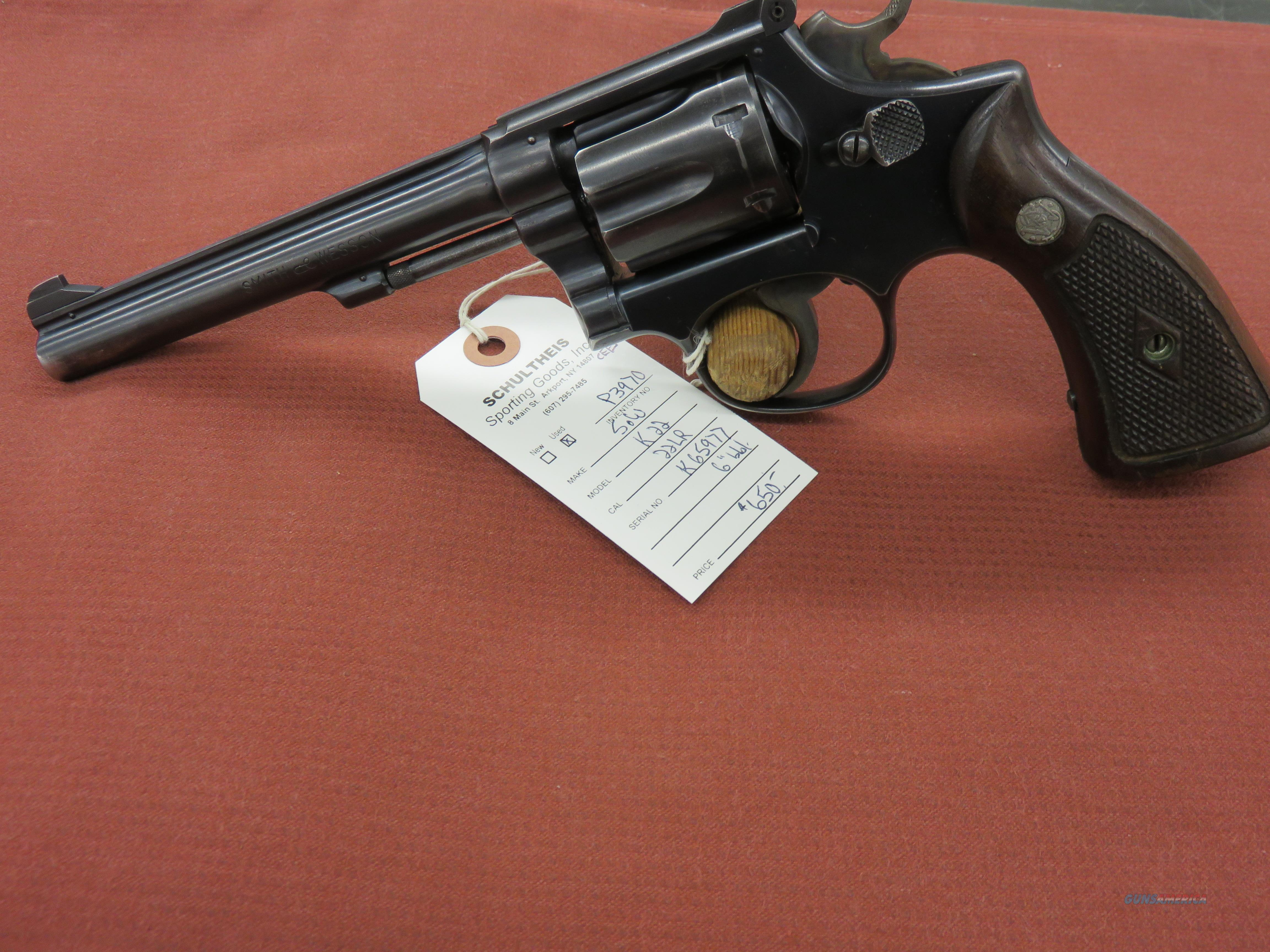 Smith and Wesson K-22 5 Screw .22LR  Guns > Pistols > Smith & Wesson Revolvers > Med. Frame ( K/L )