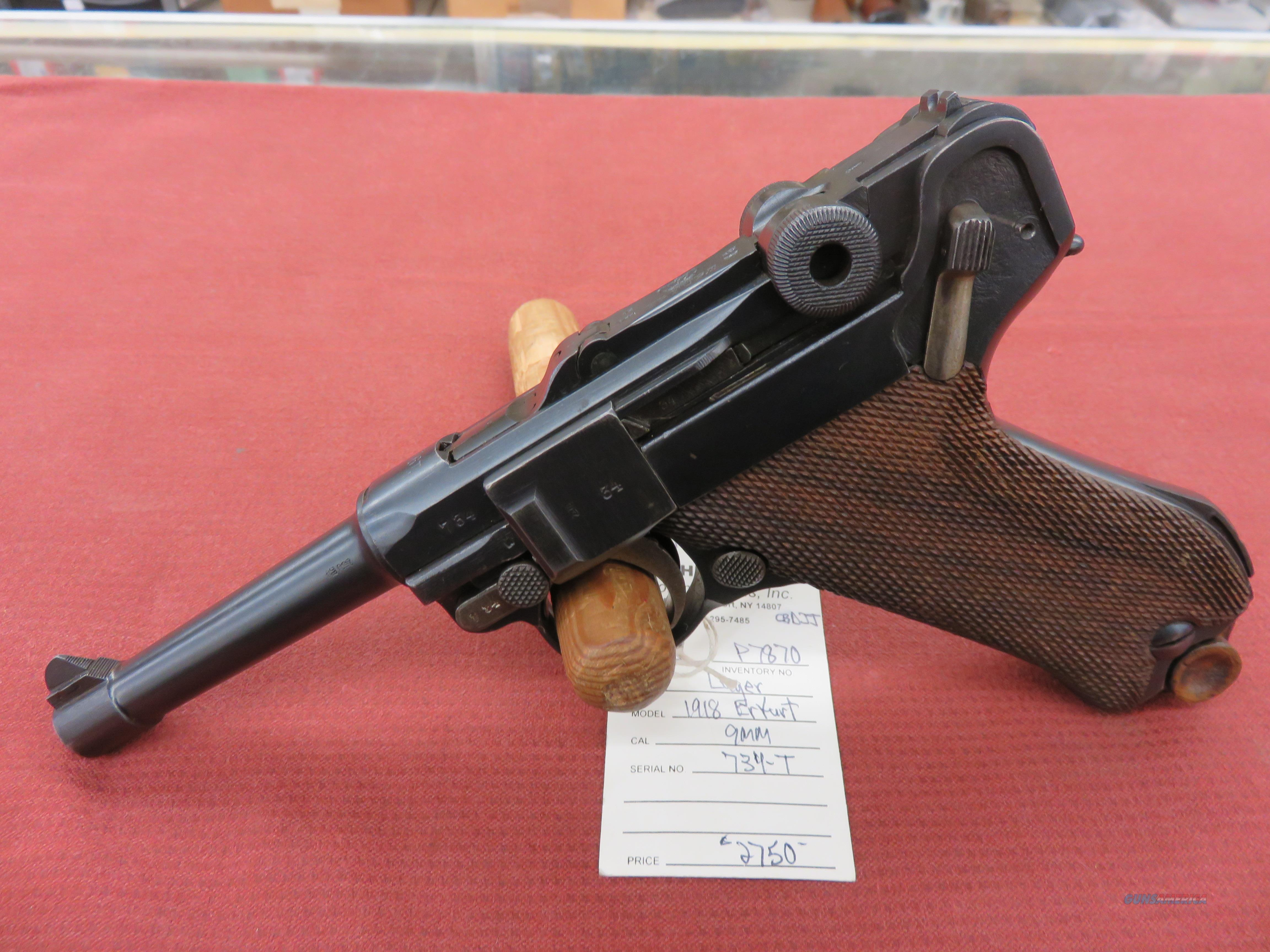 Luger 1918 Erfurt  Guns > Pistols > Luger Pistols