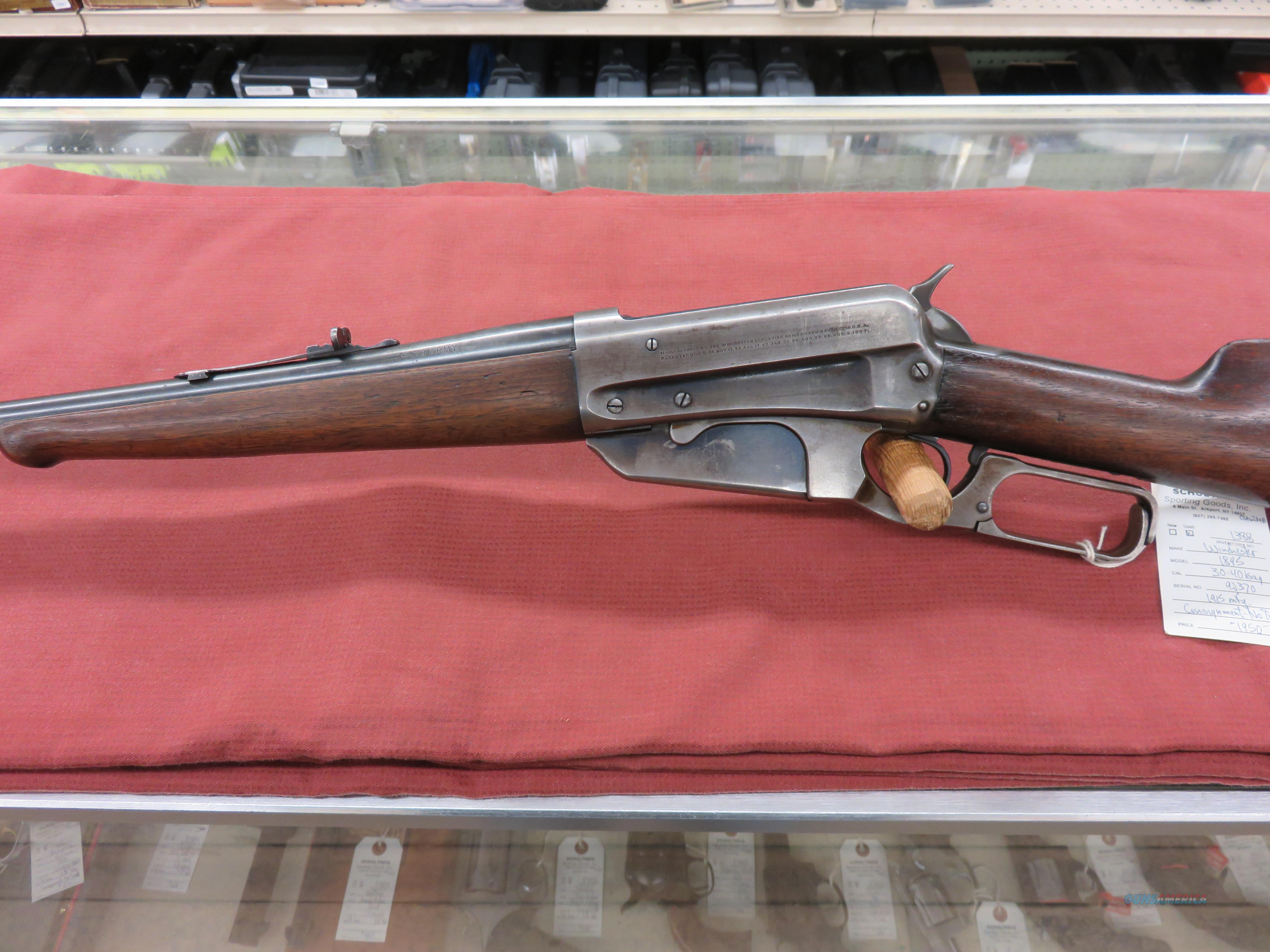 Winchester 1895 Rifle  Guns > Rifles > Winchester Rifles - Modern Lever > Other Lever > Pre-64