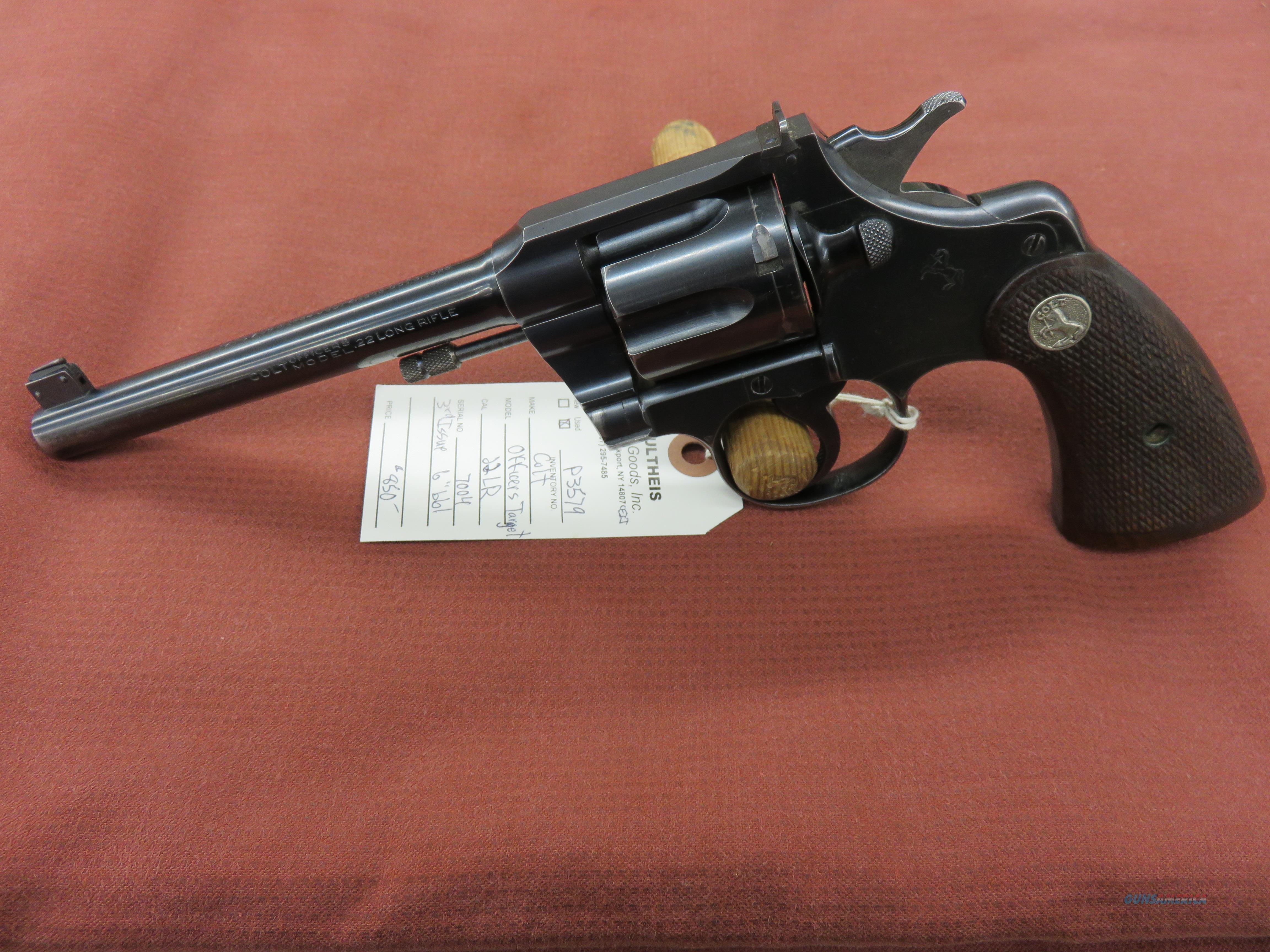 Colt Officers Model Target, 3rd Issue  Guns > Pistols > Colt Double Action Revolvers- Modern