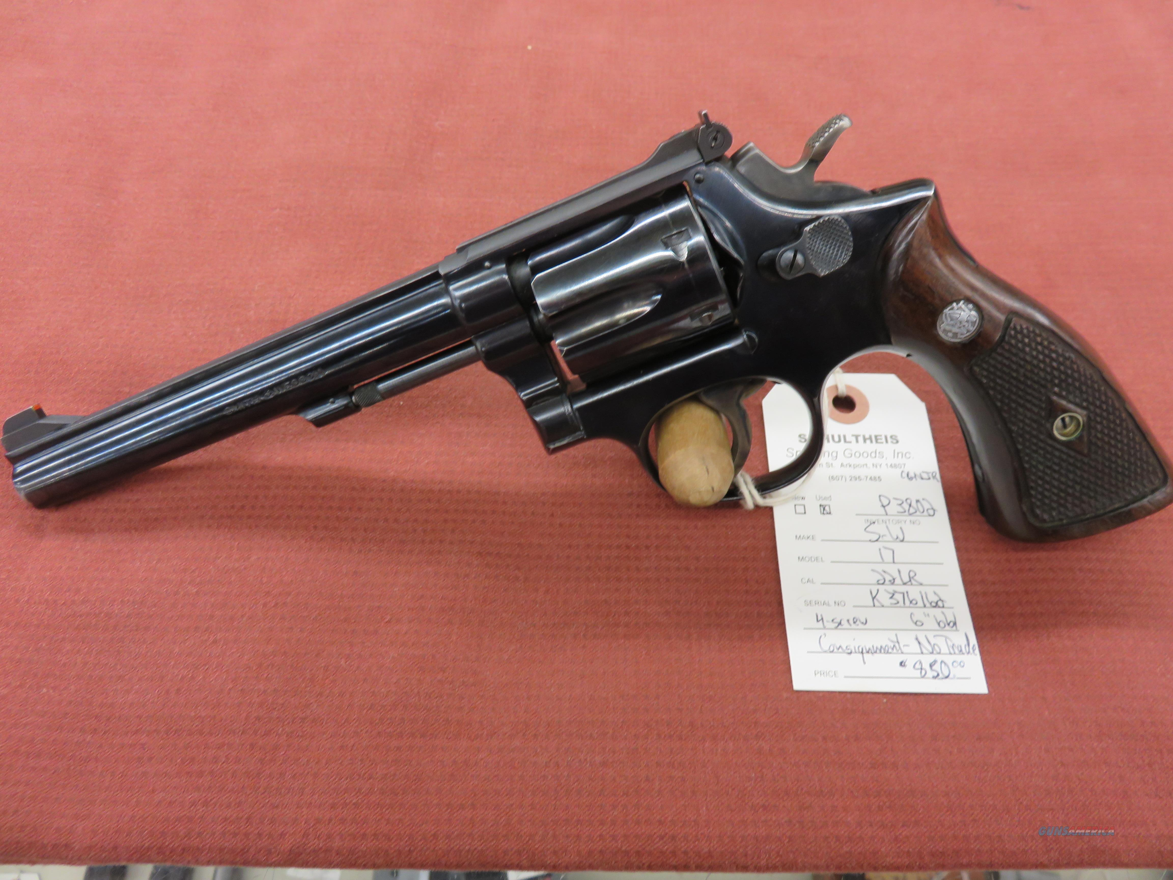 Smith & Wesson 17  Guns > Pistols > Smith & Wesson Revolvers > Med. Frame ( K/L )