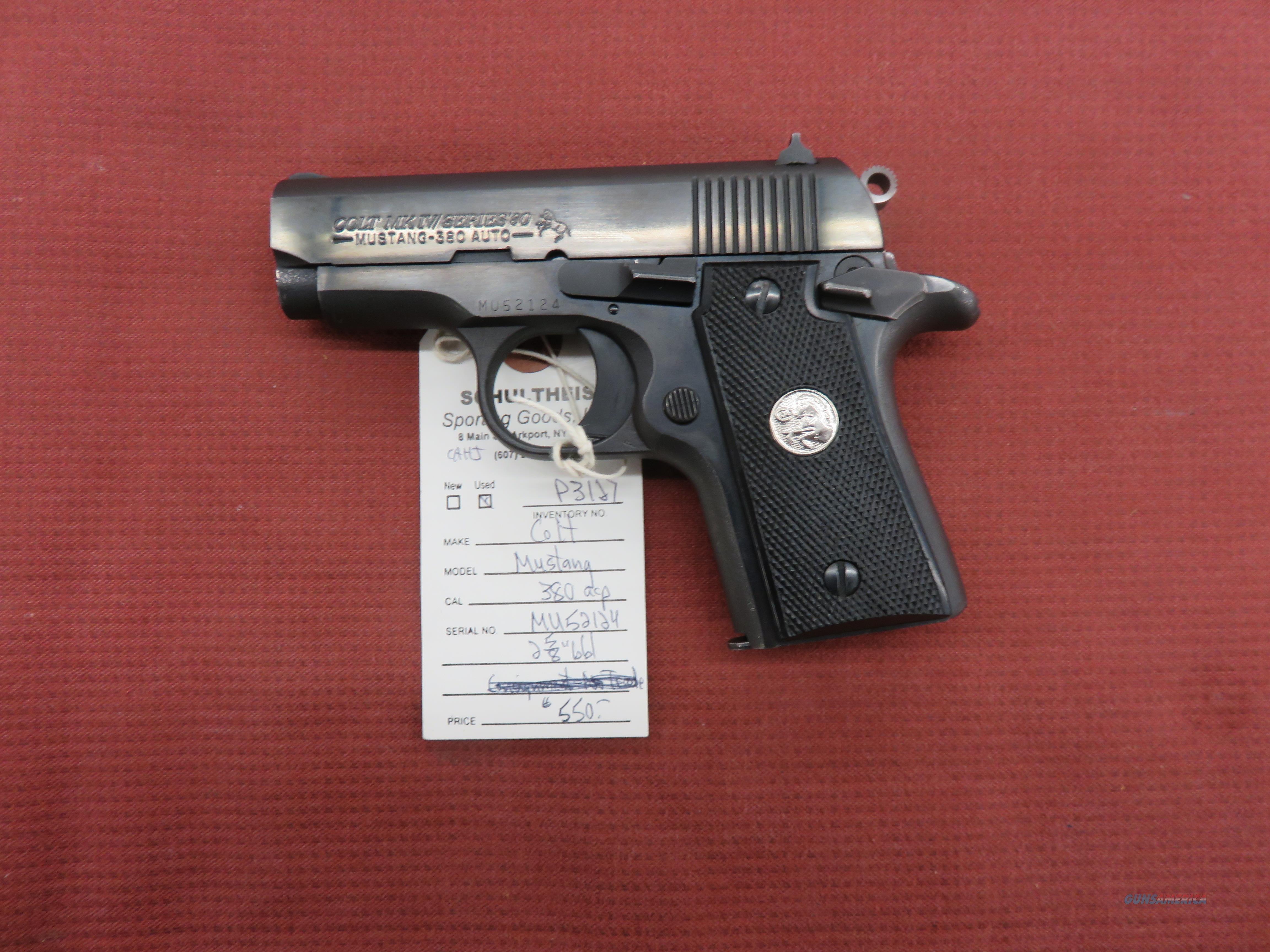 Colt MKIV Series 80 Mustang  Guns > Pistols > Colt Automatic Pistols (.25, .32, & .380 cal)