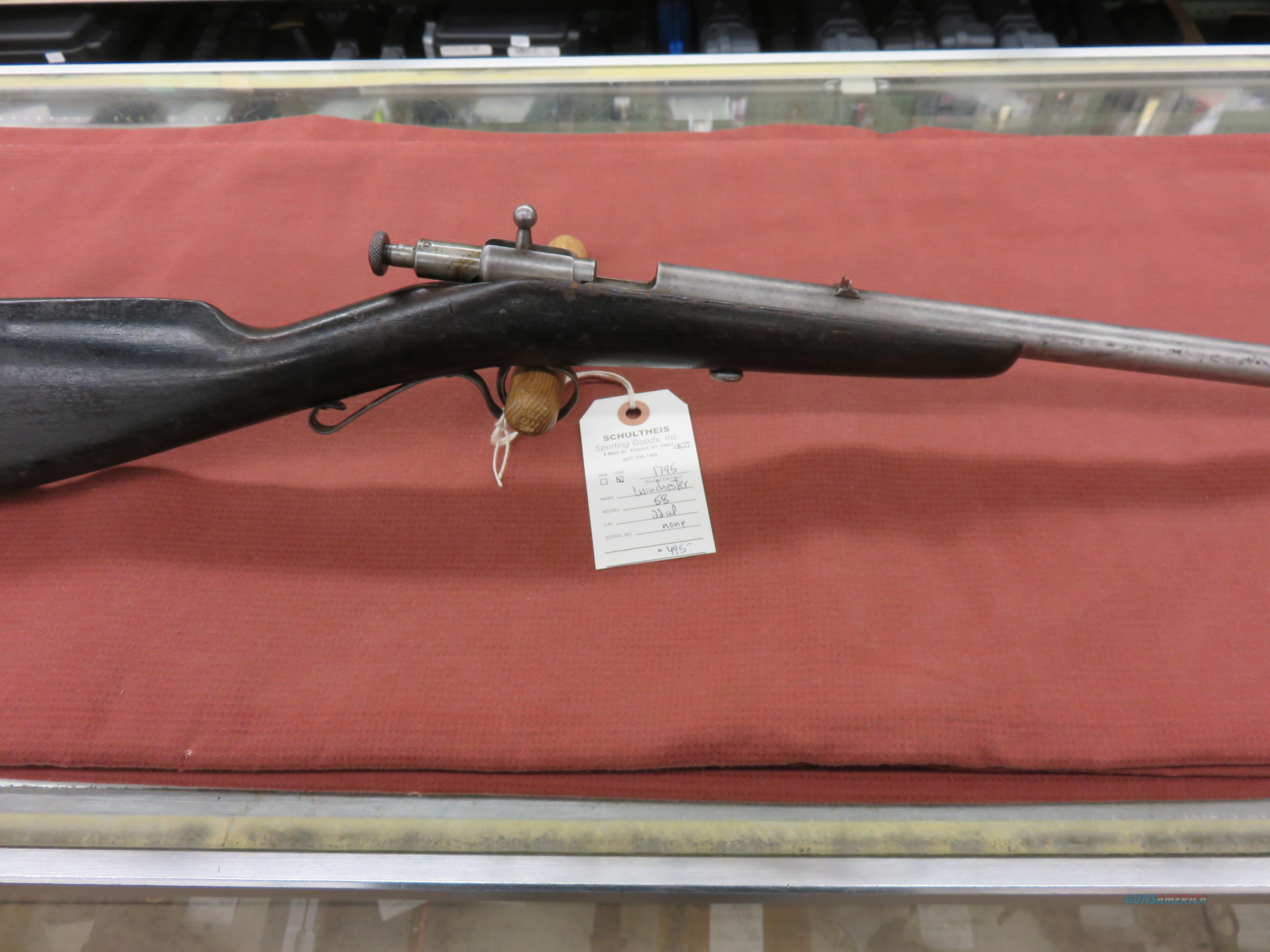 Winchester Model 58  Guns > Rifles > Winchester Rifles - Modern Bolt/Auto/Single > .22 Boys Rifles