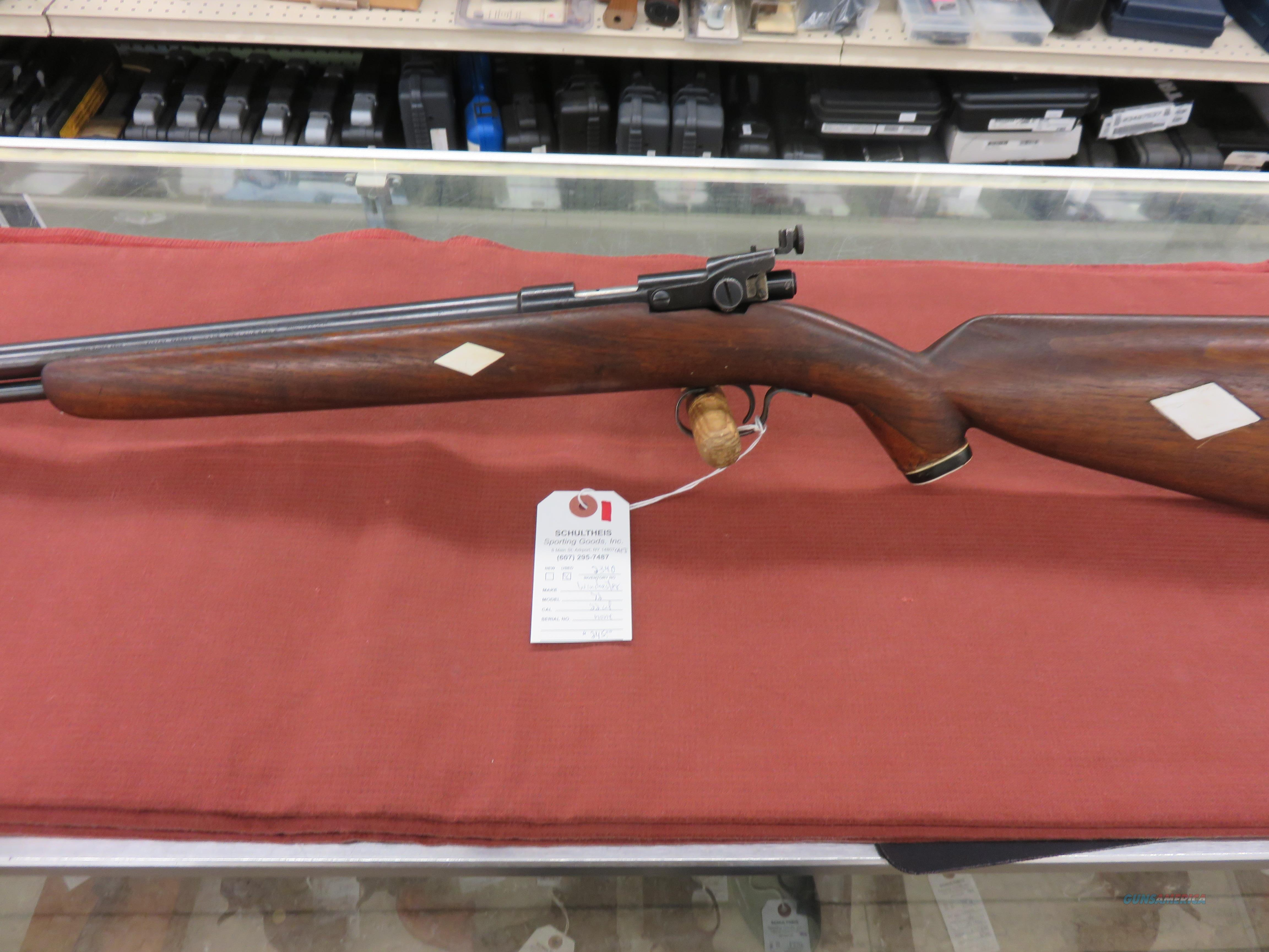 Winchester 72 Target Pre-War .22 cal.  Guns > Rifles > Winchester Rifles - Modern Bolt/Auto/Single > Other Bolt Action