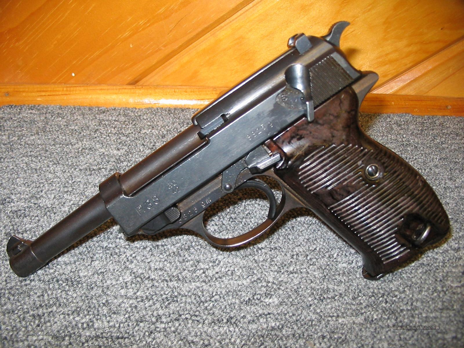 Walther P38  Guns > Pistols > Walther Pistols > Pre-1945 > P-38