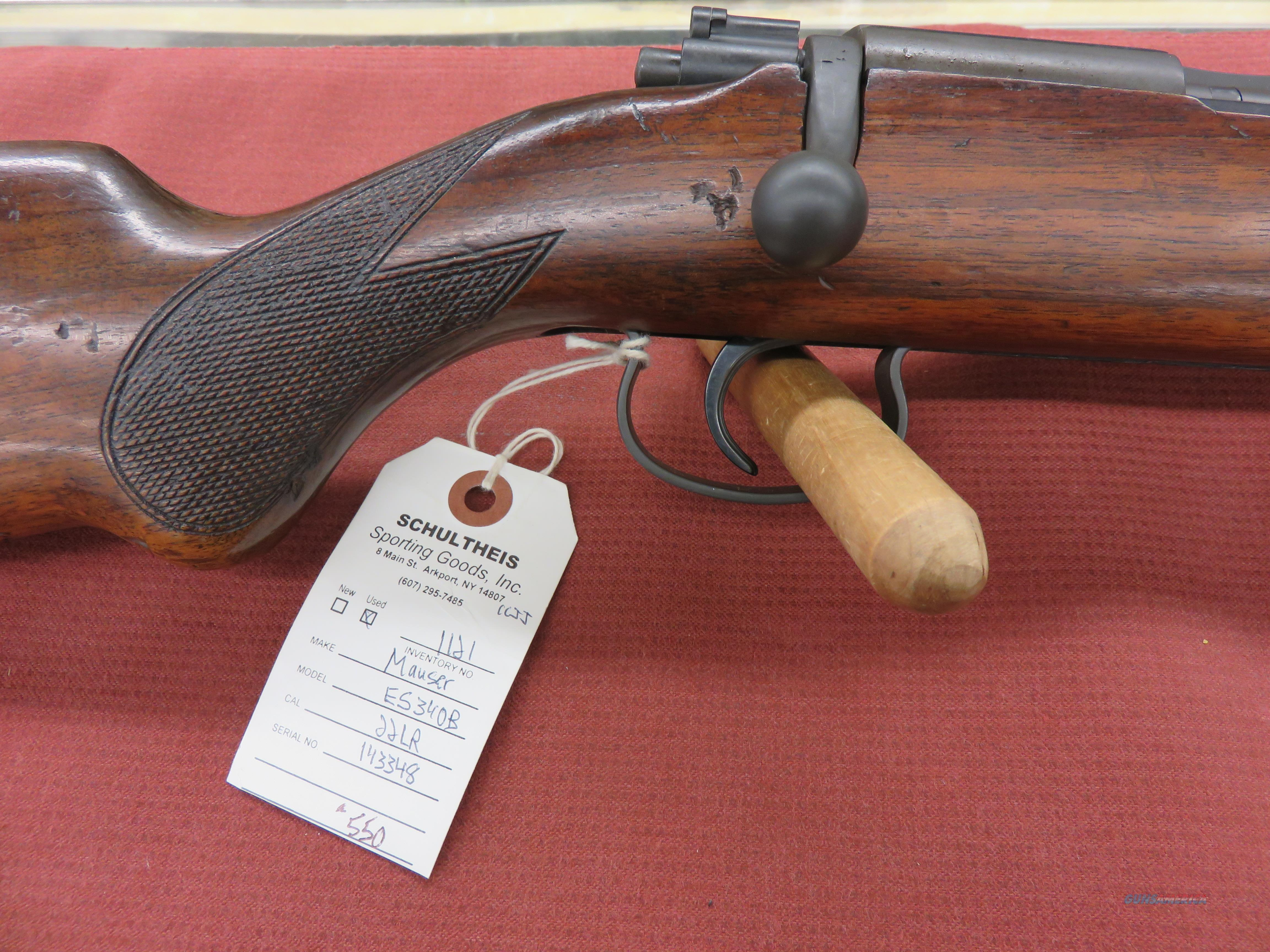 Mauser ES340B .22 LR  Guns > Rifles > Mauser Rifles > German