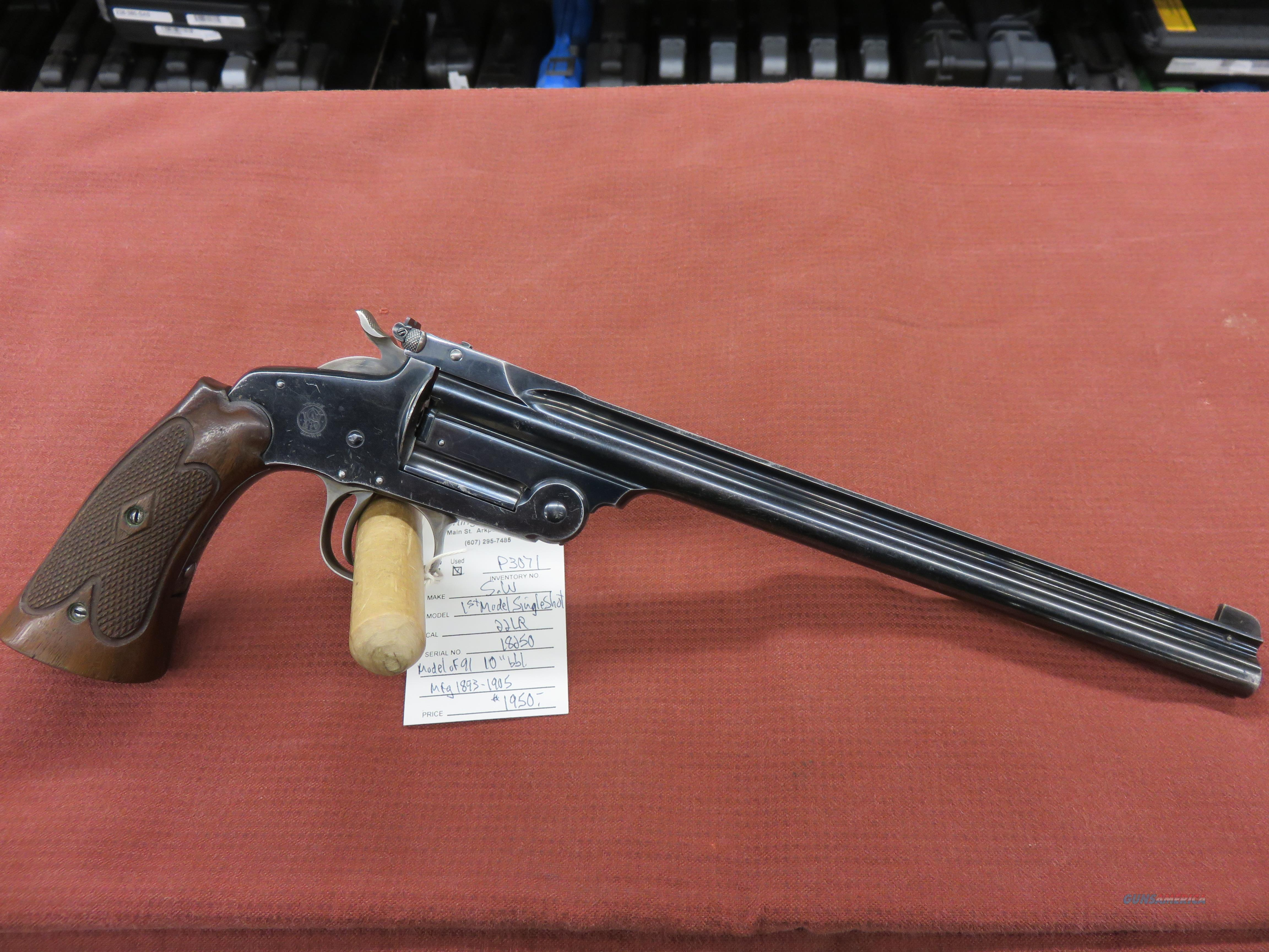Smith & Wesson 1st Model Single Shot Model of 1891  Guns > Pistols > Smith & Wesson Pistols - Autos > Steel Frame