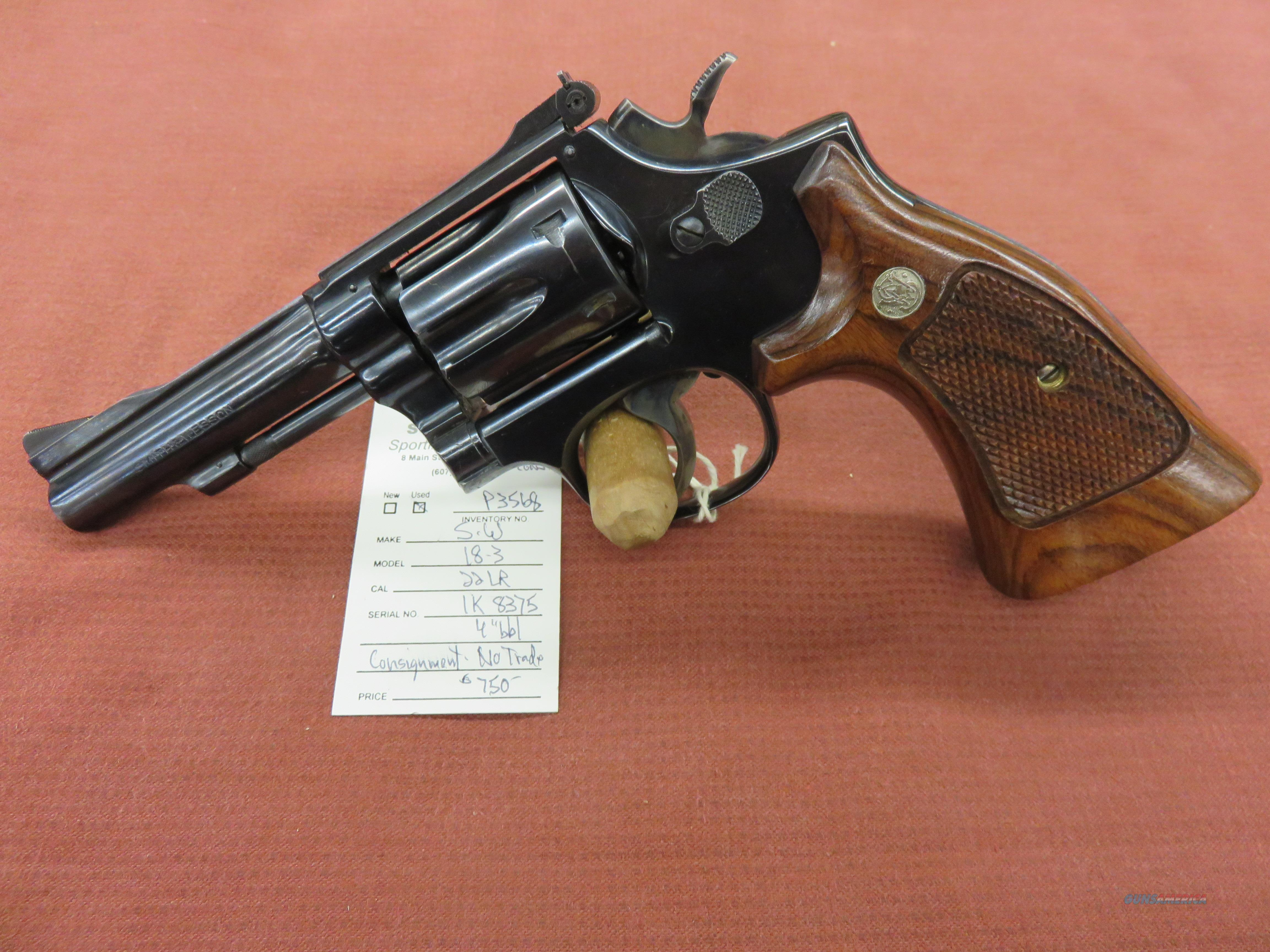 Smith & Wesson 18-3  Guns > Pistols > Smith & Wesson Revolvers > Med. Frame ( K/L )