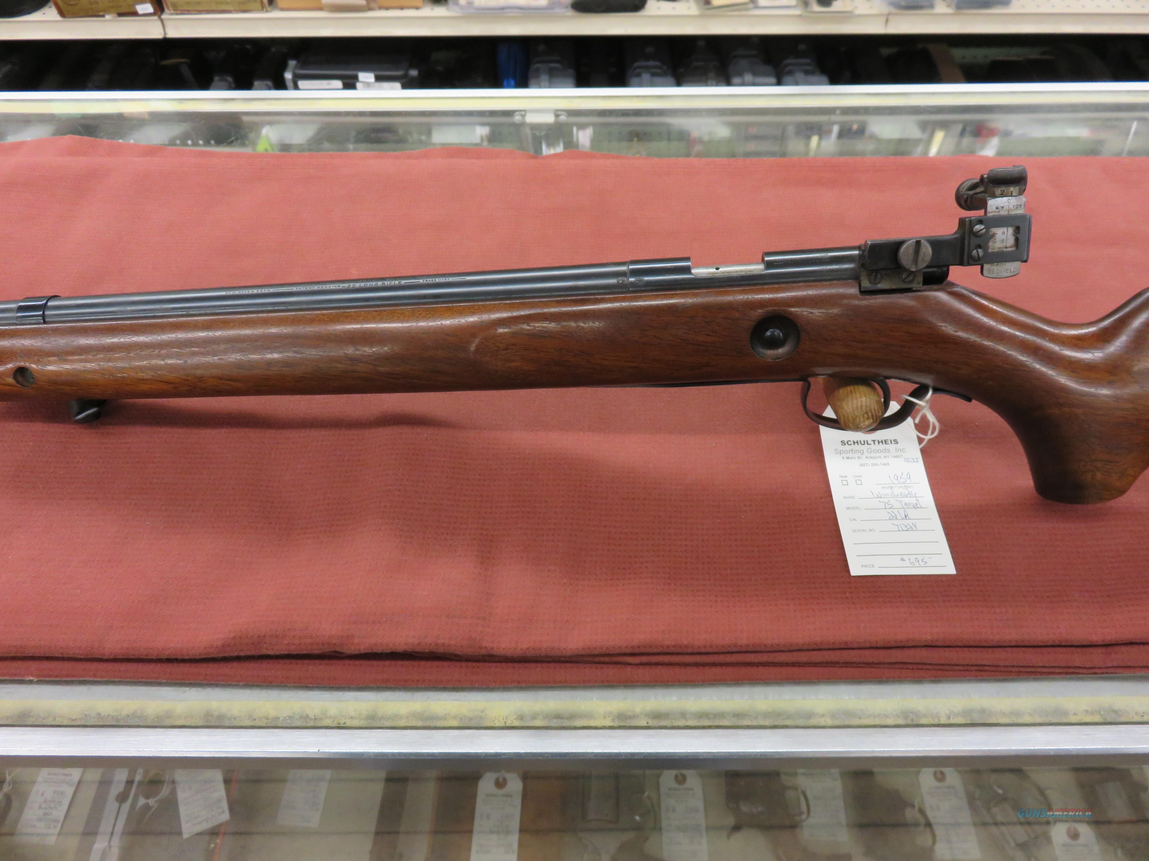 Winchester 75 Target  Guns > Rifles > Winchester Rifles - Modern Bolt/Auto/Single > Other Bolt Action