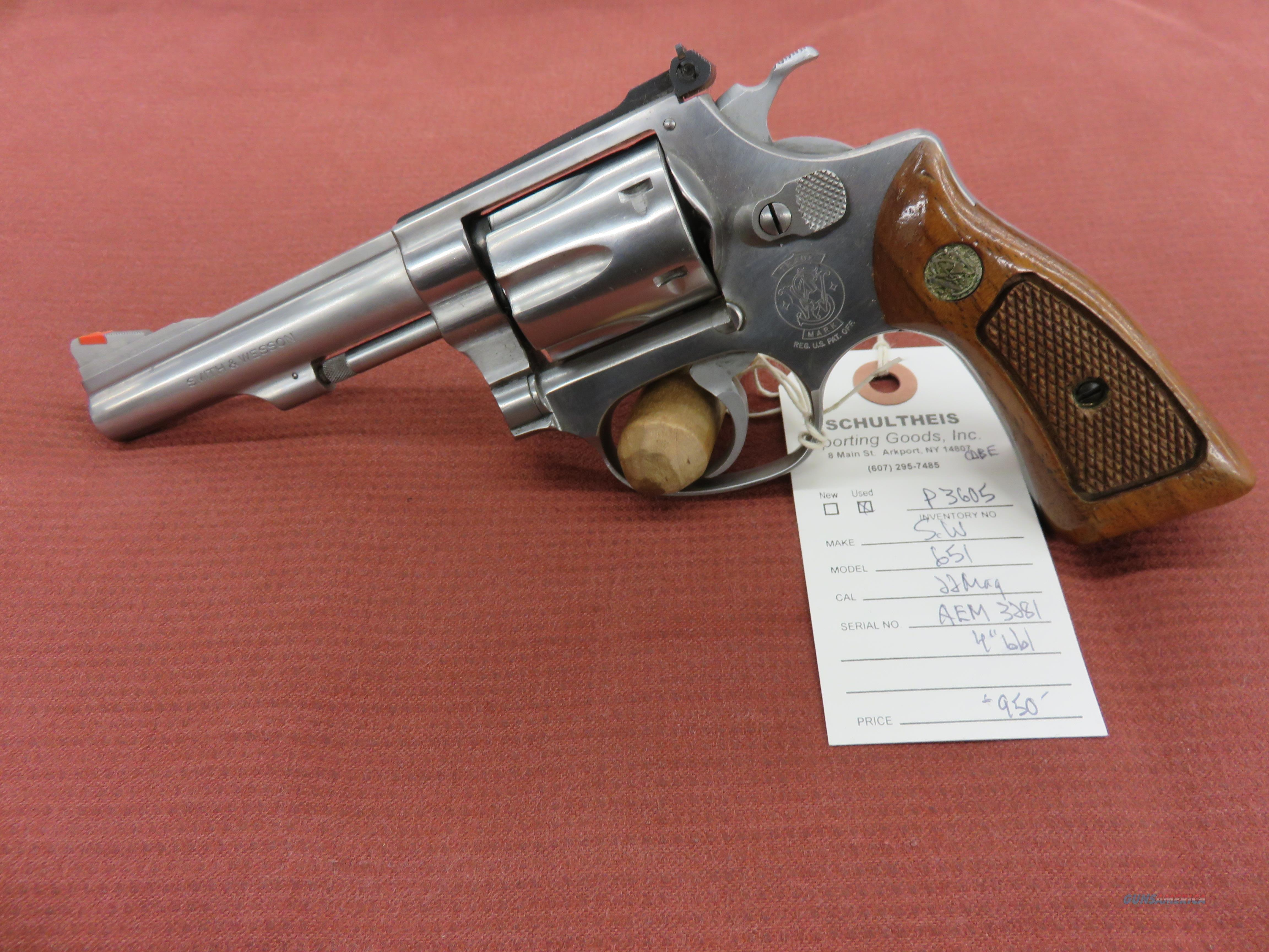 Smith & Wesson 651 Kit Gun  Guns > Pistols > Smith & Wesson Revolvers > Small Frame ( J )