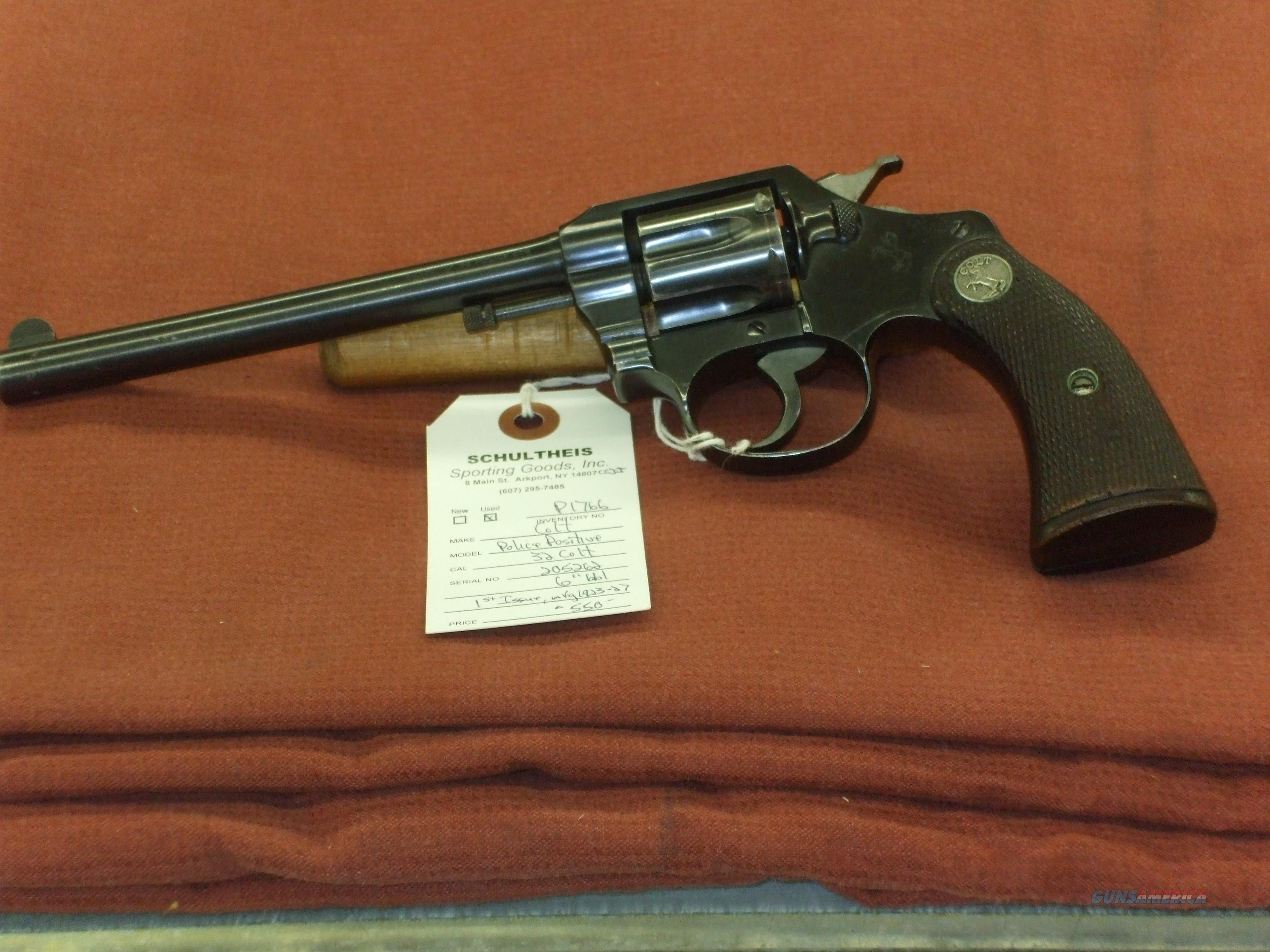 Colt Police Positive 1st Issue  Guns > Pistols > Colt Double Action Revolvers- Pre-1945