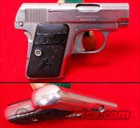 Colt 1908 Vest Pocket Hammerless - Nickle  Guns > Pistols > Colt Automatic Pistols (.25, .32, & .380 cal)