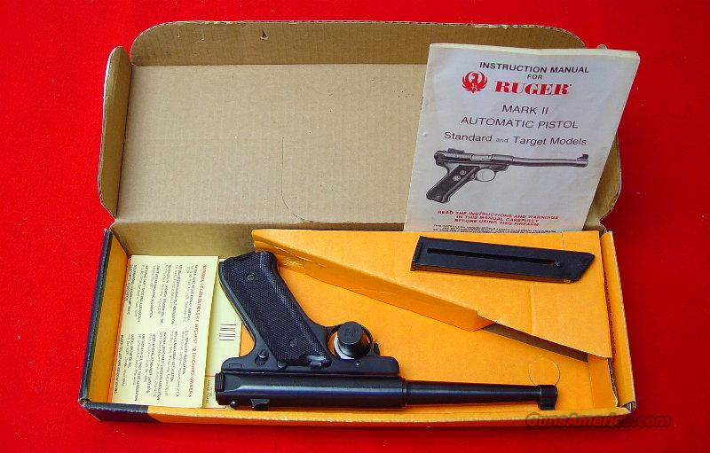 "Mark II 6"" Barrel NIB with Papers and Extra Magazine  Guns > Pistols > Ruger Semi-Auto Pistols > Mark I & II Family"