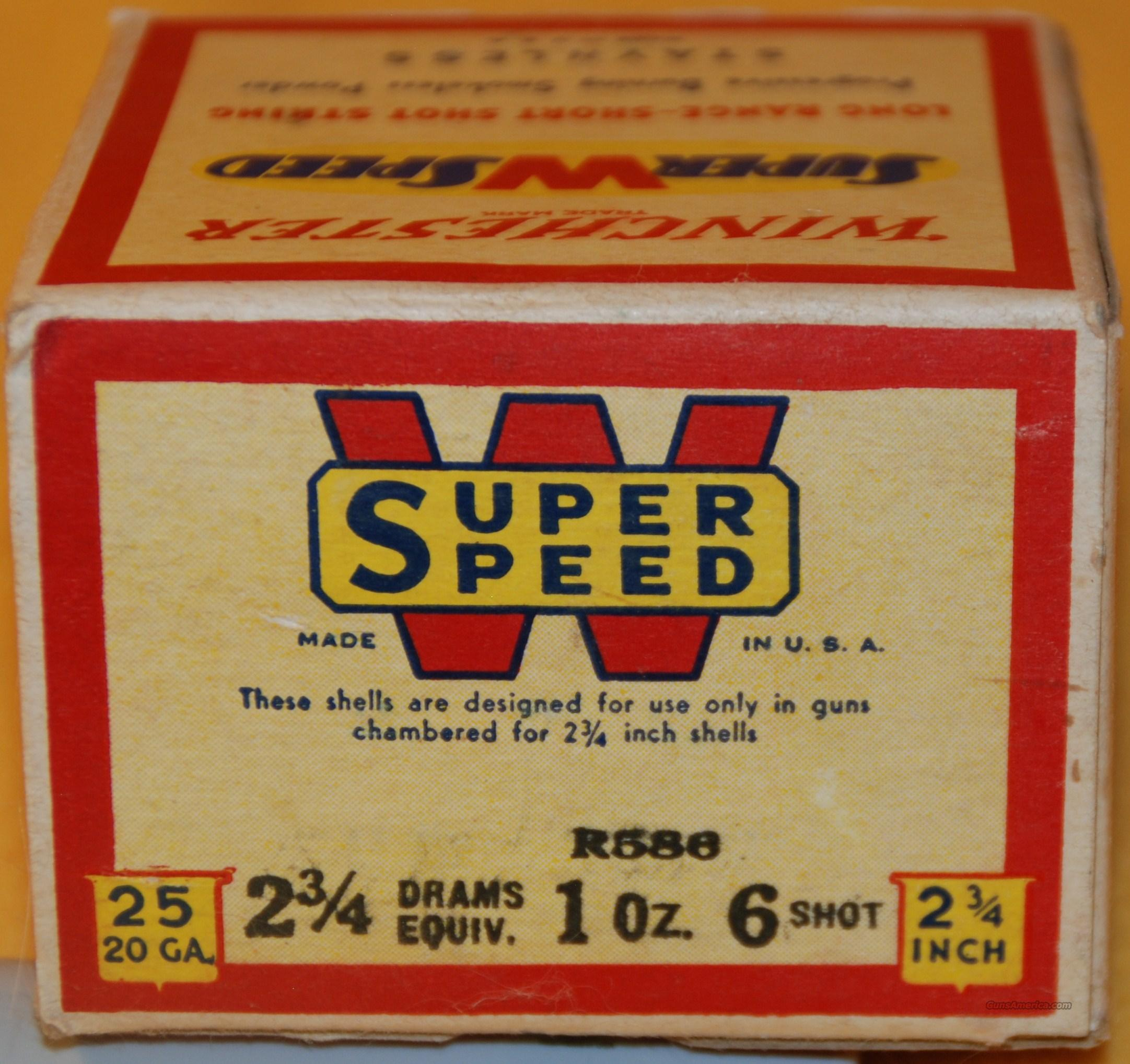 Old WINCHESTER SUPER SPEED full box  Non-Guns > Ammunition