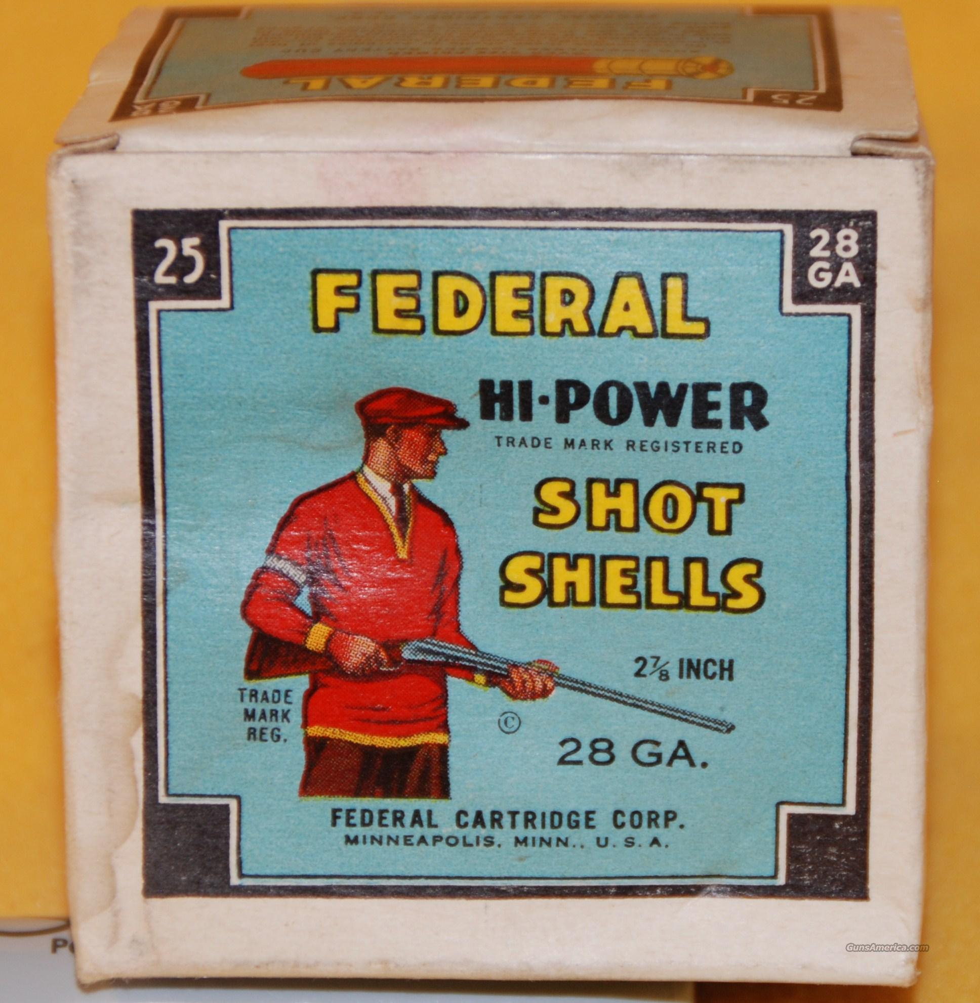 FEDERAL HI-POWER 28 ga. Full Box  Non-Guns > Ammunition