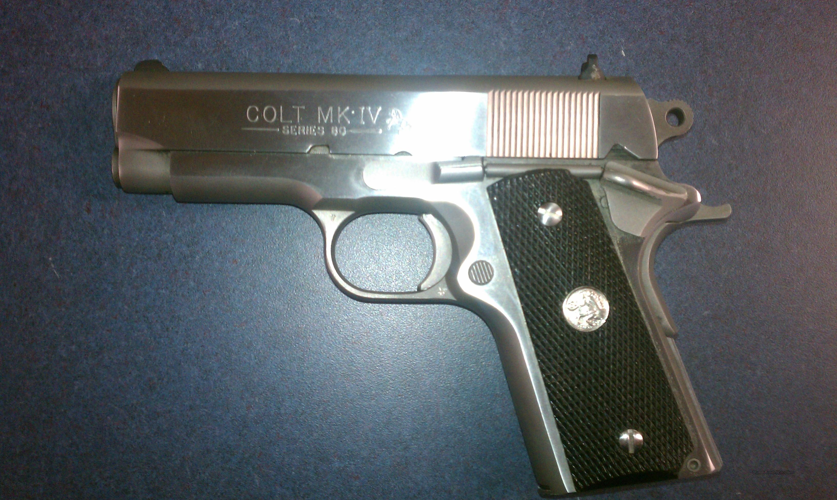 COLT MKIV SERIES 80 OFFICERS ACP  Guns > Pistols > Colt Automatic Pistols (1911 & Var)
