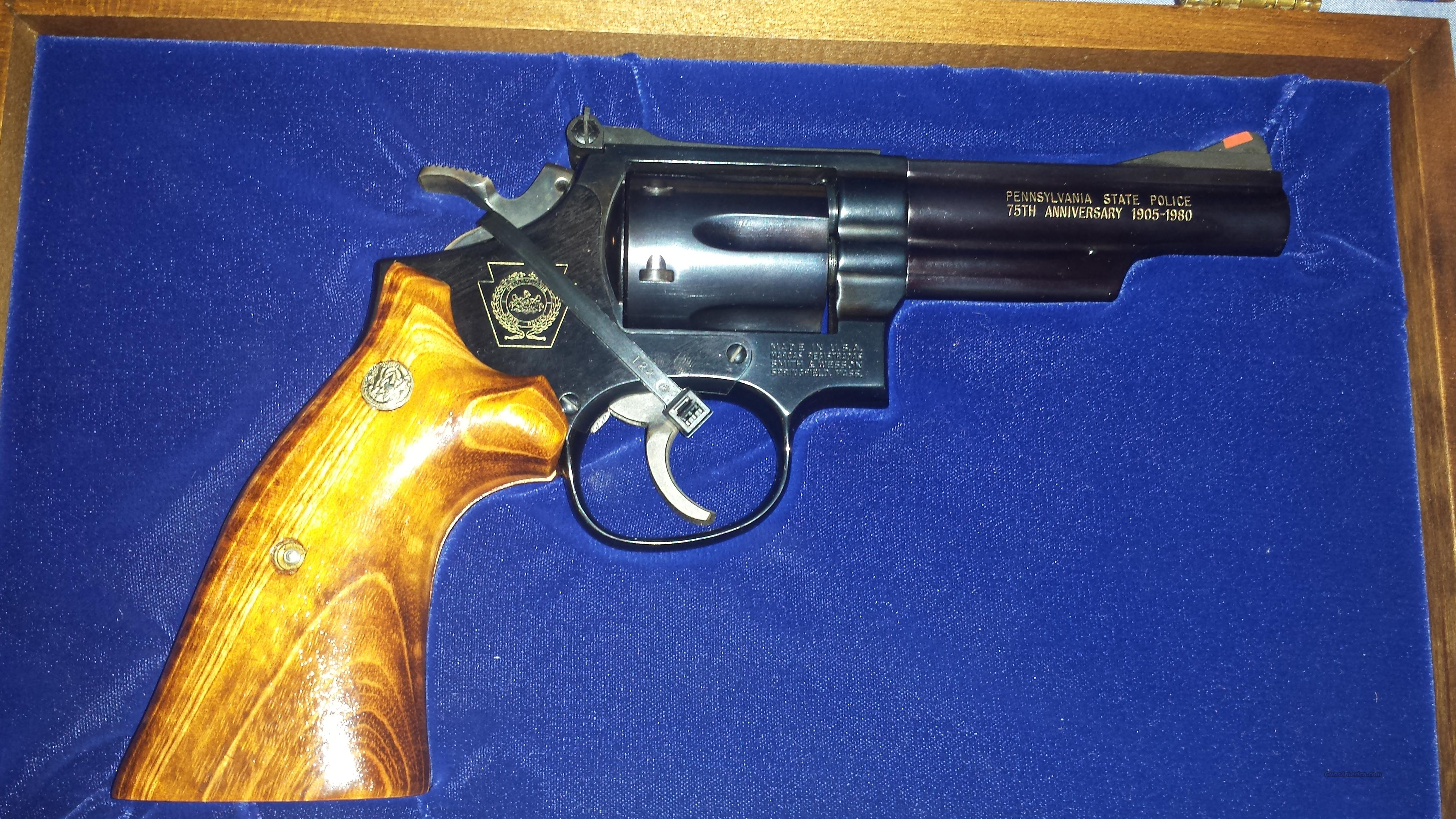 S&W Model 19-4 PA. State Police 75th Anniversary .357 Mag.  Guns > Pistols > Smith & Wesson Revolvers > Full Frame Revolver