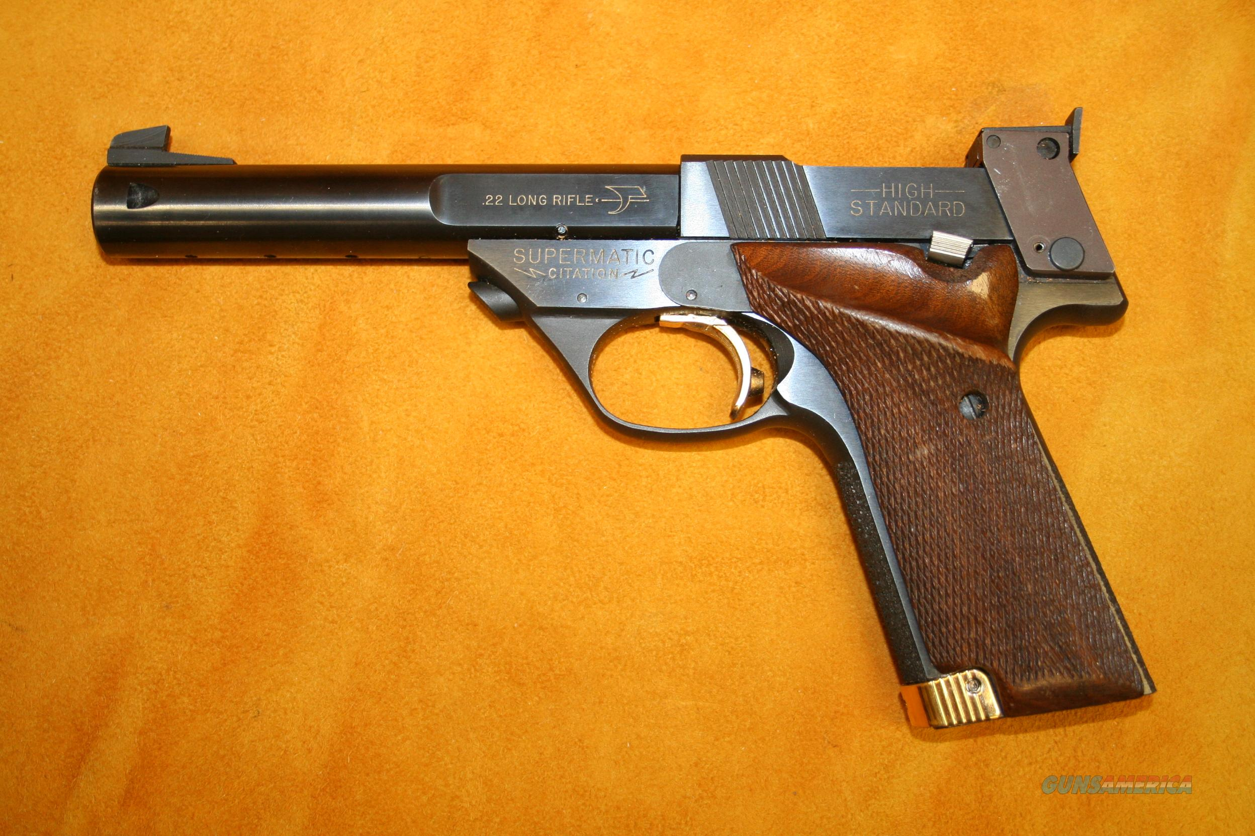 HIGH STANDARD SUPERMATIC CITATION .22 LONG RIFLE SEMI-AUTOMATIC PISTOL  Guns > Pistols > High Standard Pistols