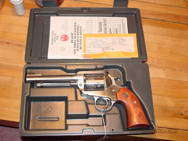 "Very Scarce Ruger 5.5"" bbl Stainless Bisley Blackhawk - 41 mag!!    Guns > Pistols > Ruger Single Action Revolvers > Blackhawk Type"