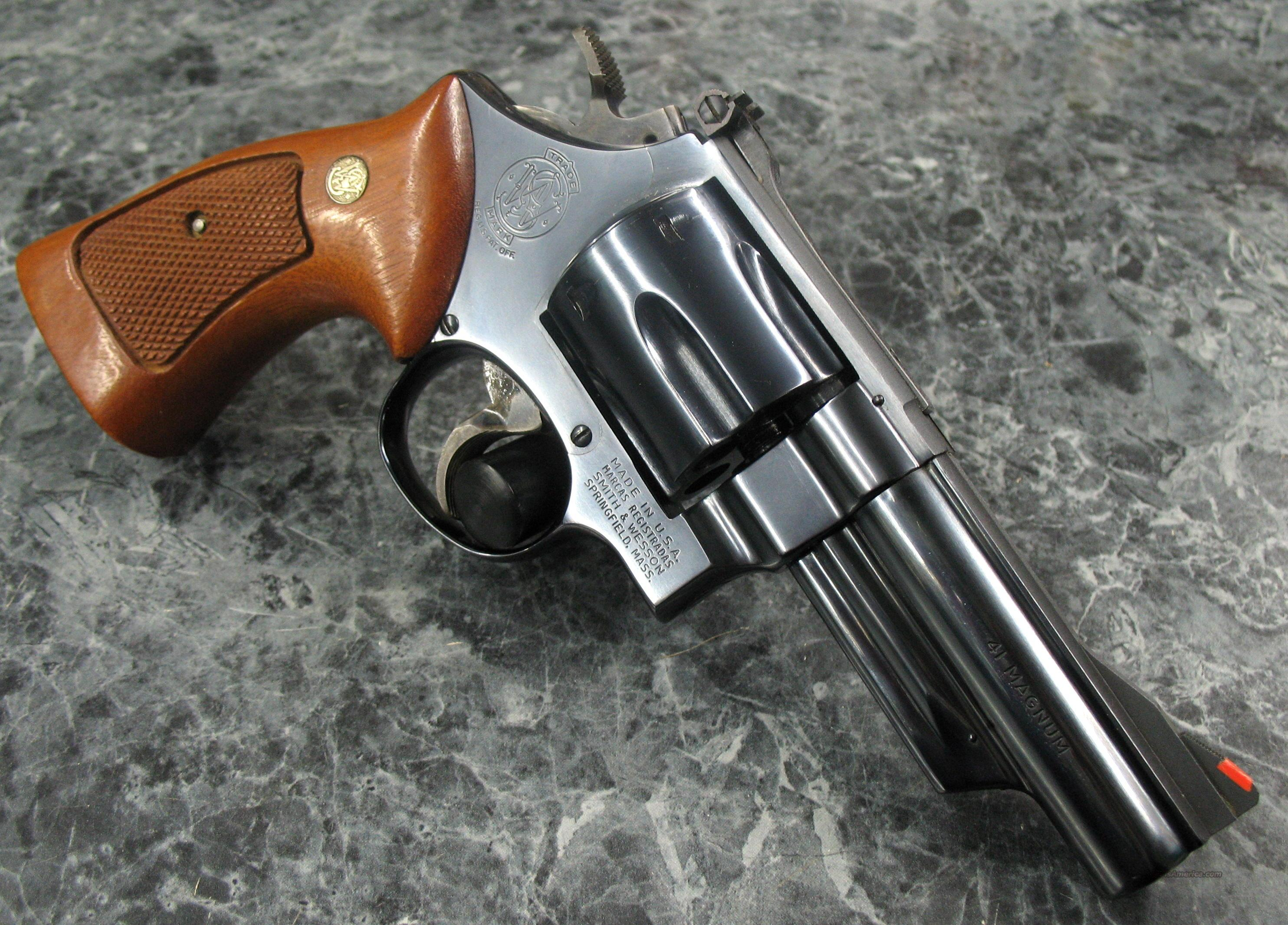 "Smith & Wesson Model 57 4"" Blue 41Mag  Guns > Pistols > Smith & Wesson Revolvers > Full Frame Revolver"