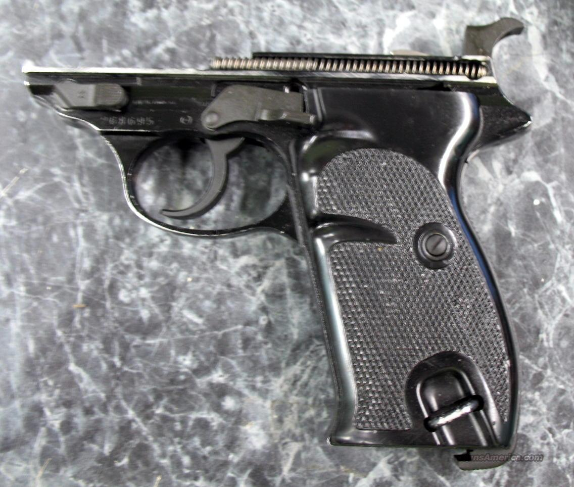 Post War P-38 Complete alloy frame w/grips  Guns > Pistols > Walther Pistols > Post WWII > Large Frame Autos