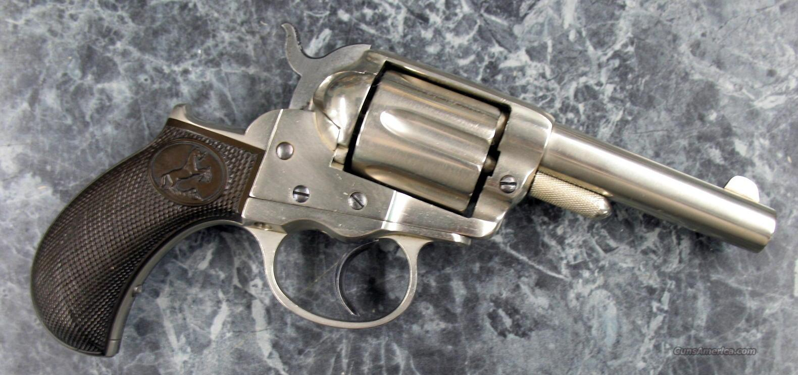 "1877 Lightning 38 Colt 3.5"" Nickel Made in 1878 NICE!  Guns > Pistols > Colt Double Action Revolvers- Pre-1945"